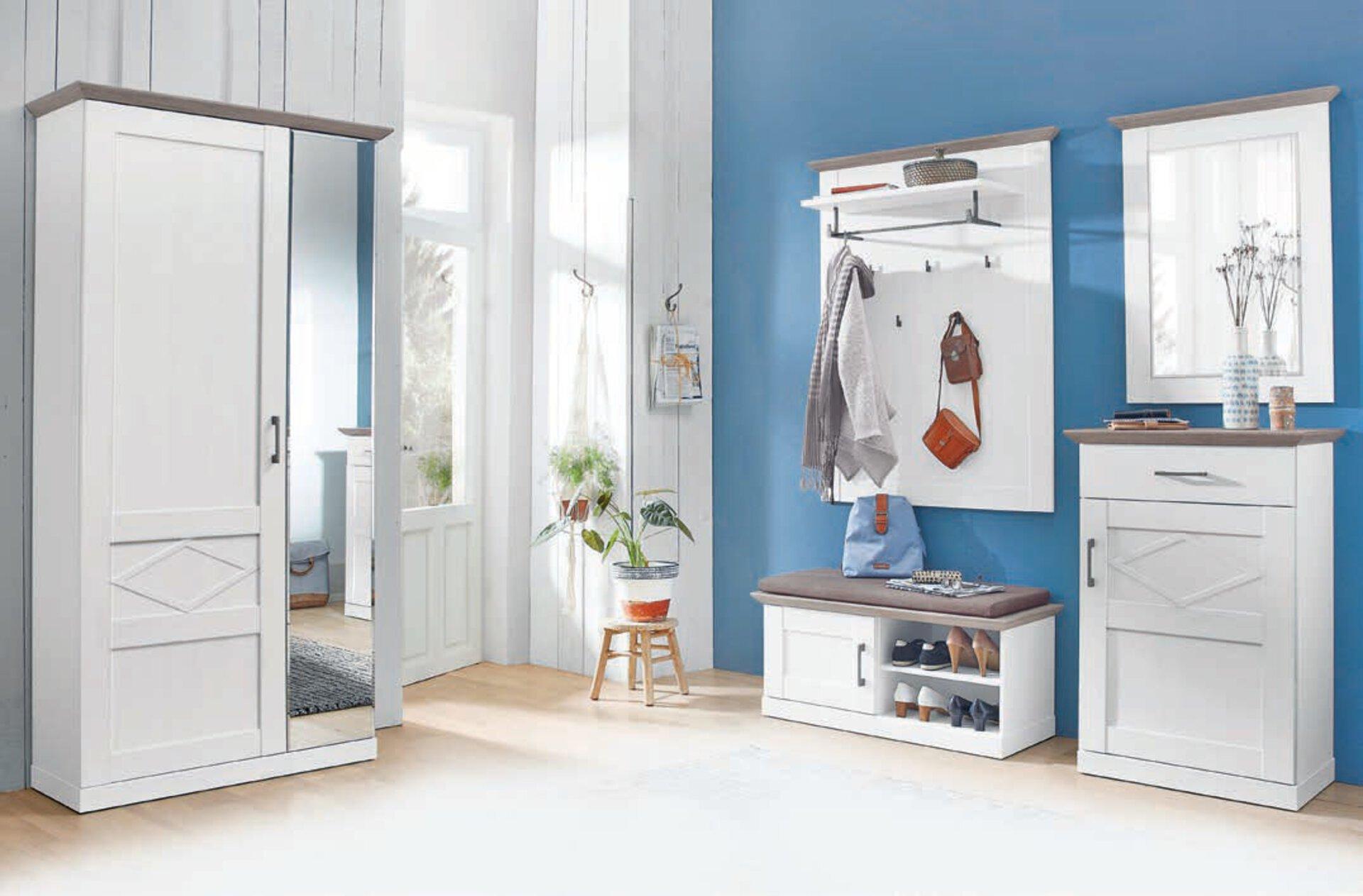 Garderobenpaneel COUNTRY Vito Holzwerkstoff braun 30 x 125 x 97 cm