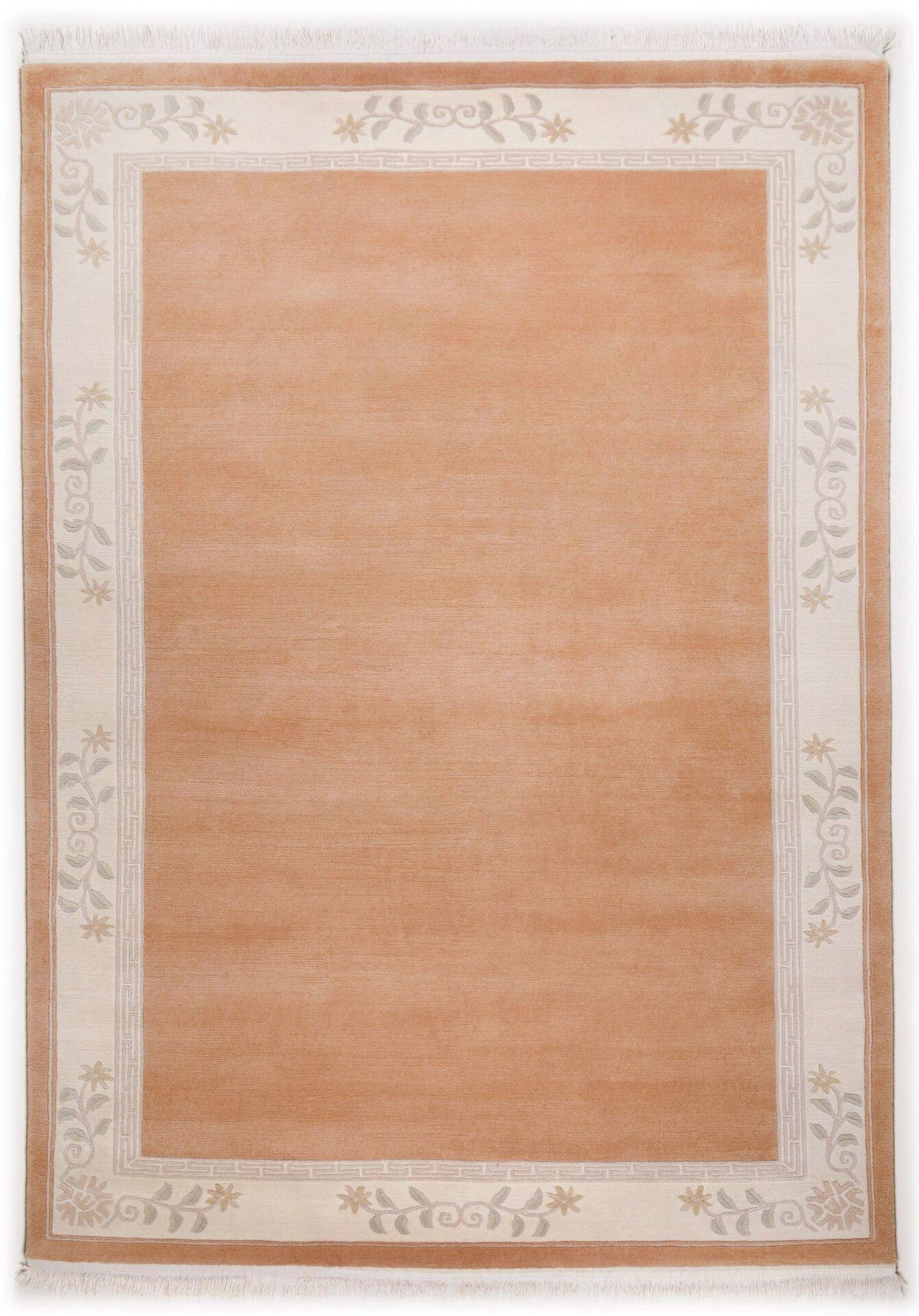 Handknüpfteppich Classica Theko Textil rosa 90 x 160 cm
