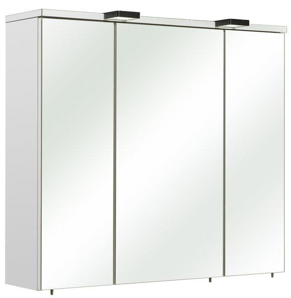 Spiegelschrank PELIPAL Glas, Holzwerkstoff weiß glanz