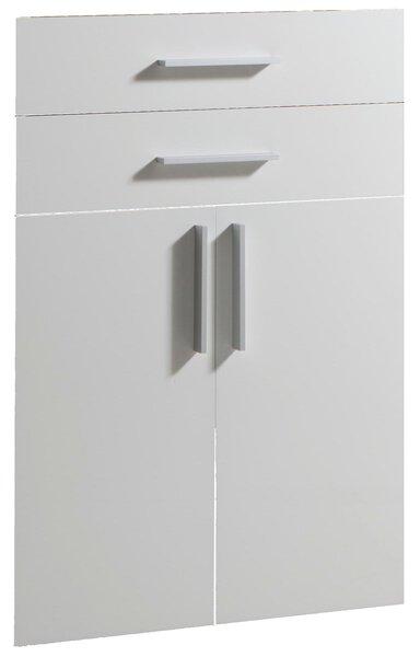 Tür-Schubkastenset inbuy Holzwerkstoff Hochglanz Weiss ca. 2 cm x 103 cm x 72 cm