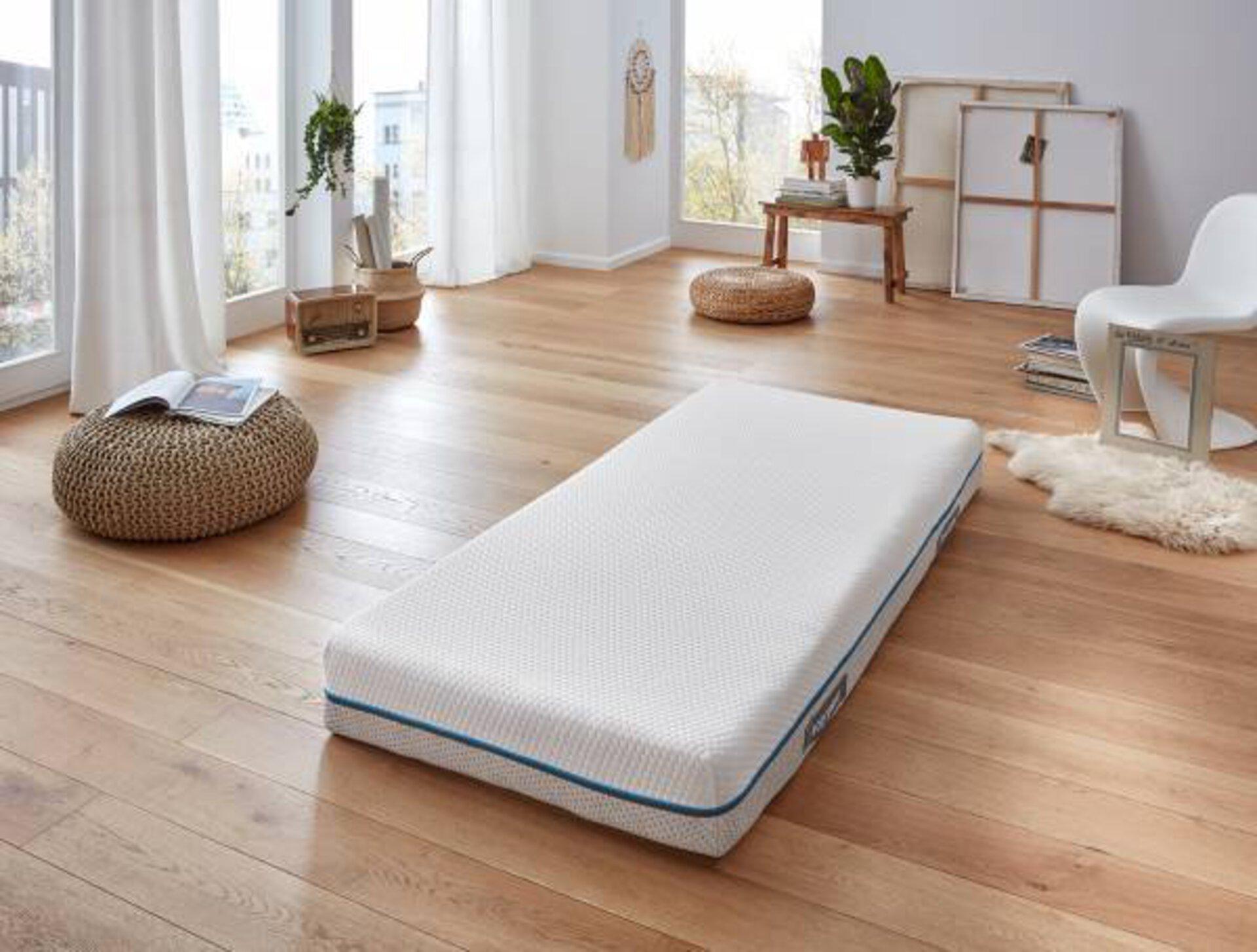 Matratze BODYSPRING MONDO Textil weiß 200 x 22 x 100 cm
