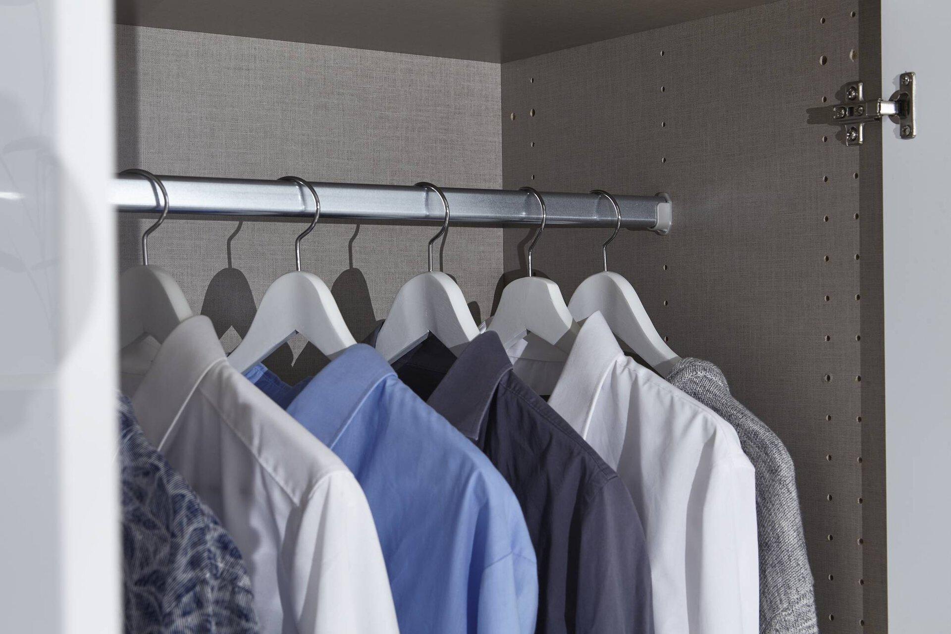 Drehtürenschrank SALVADOR rauch BLUE Holzwerkstoff weiß 54 x 197 x 136 cm