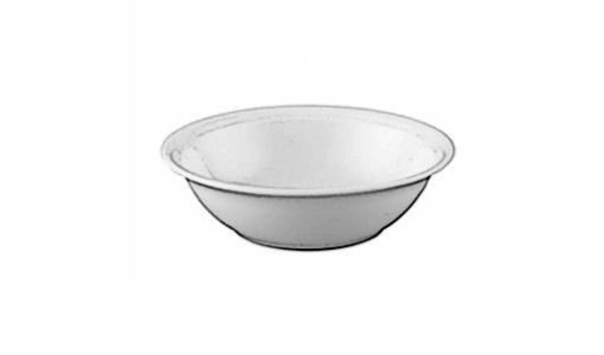Weiße Keramikschüssel dient als Sinnbild für alle Schalen und Schüsseln innerhalb der Produktwelt.