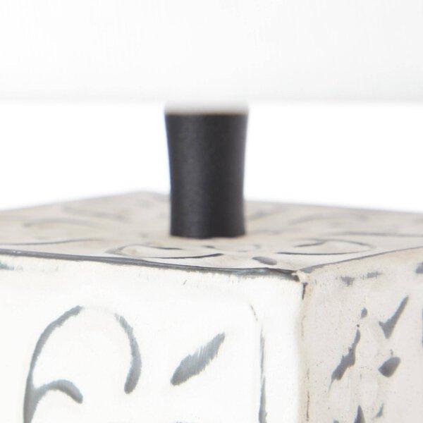 Tischleuchte Brilliant Metall, Textil creme ca. 30 cm x 41 cm x 30 cm