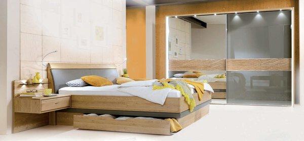 Schlafzimmer MONDO Holzwerkstoff Glas Havanna / Bronze-Spiegel ca. 67 cm x 217 cm x 300 cm