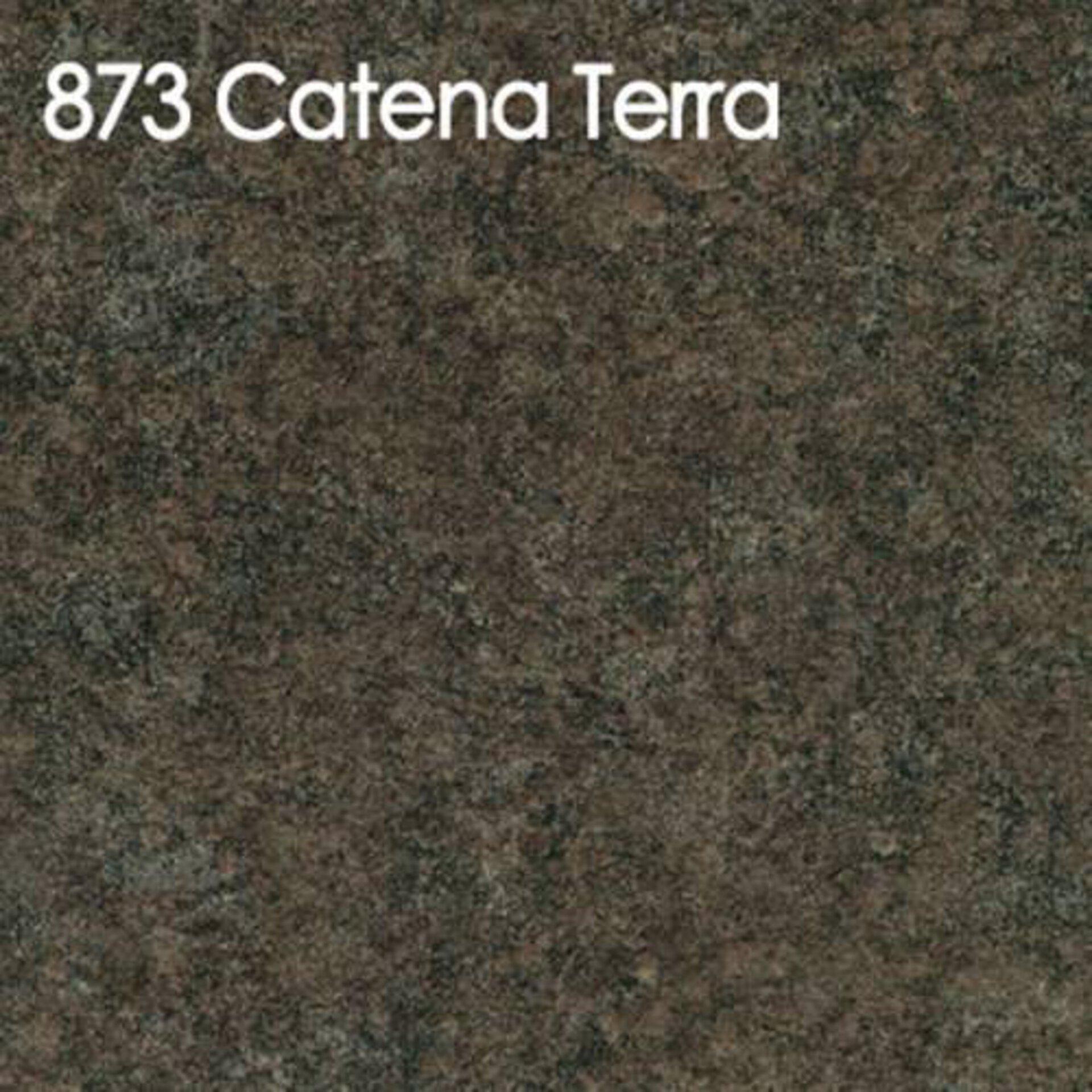 Arbeitsplatte aus Laminat in der bräunlich grauen Ausführung Catena Terra.