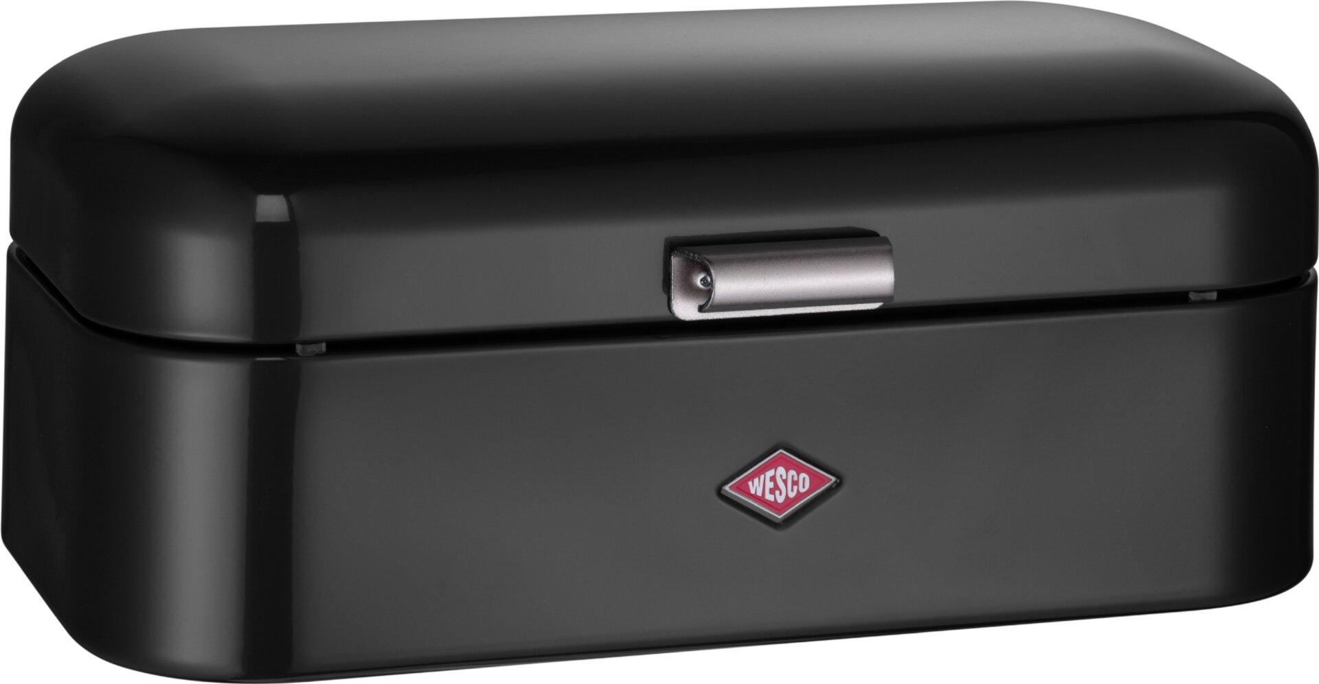 Brotkasten Grandy Wesco Metall schwarz 22 x 17 x 42 cm