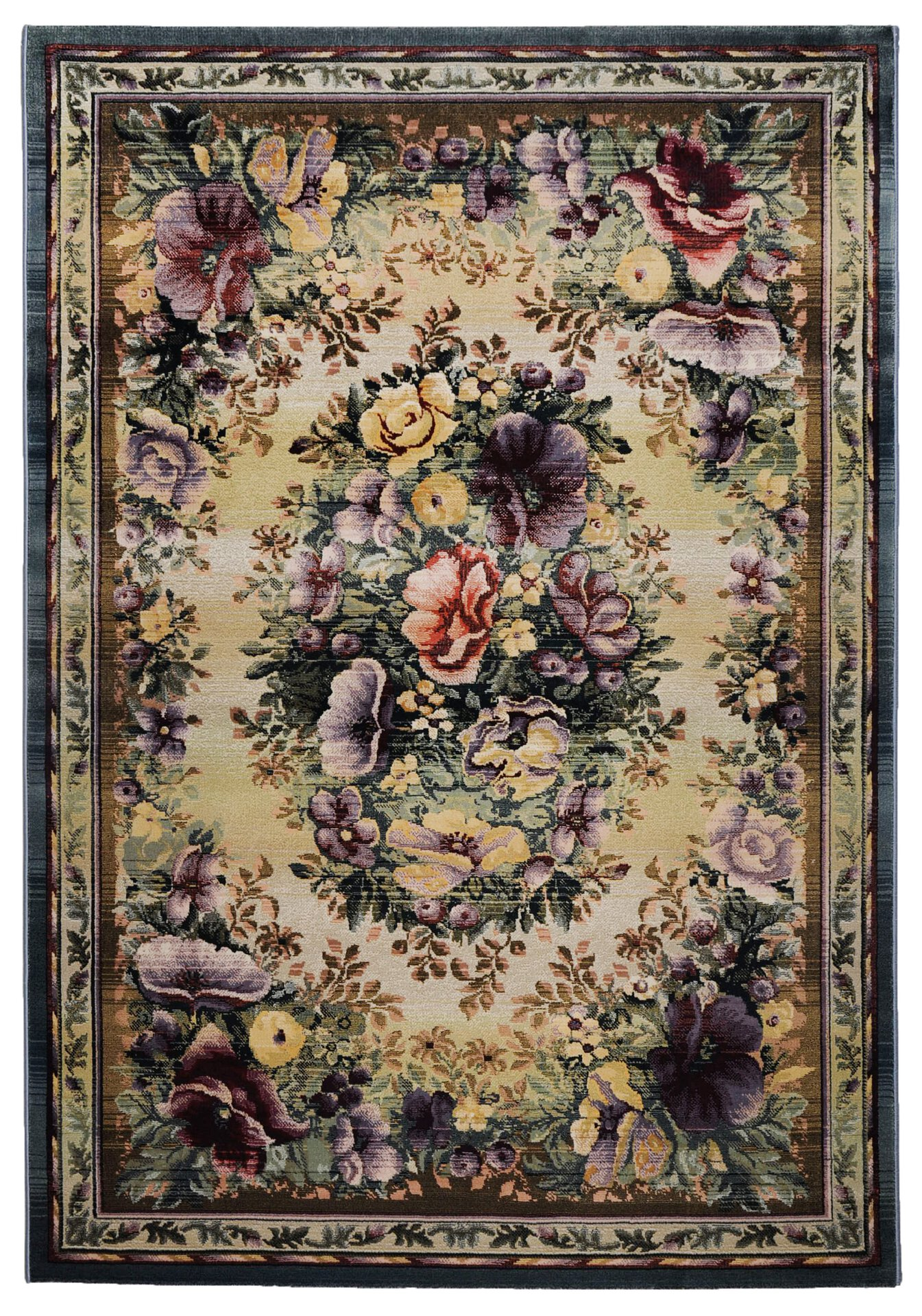 Maschinenwebteppich Gabiro Theko Textil mehrfarbig 120 x 180 cm