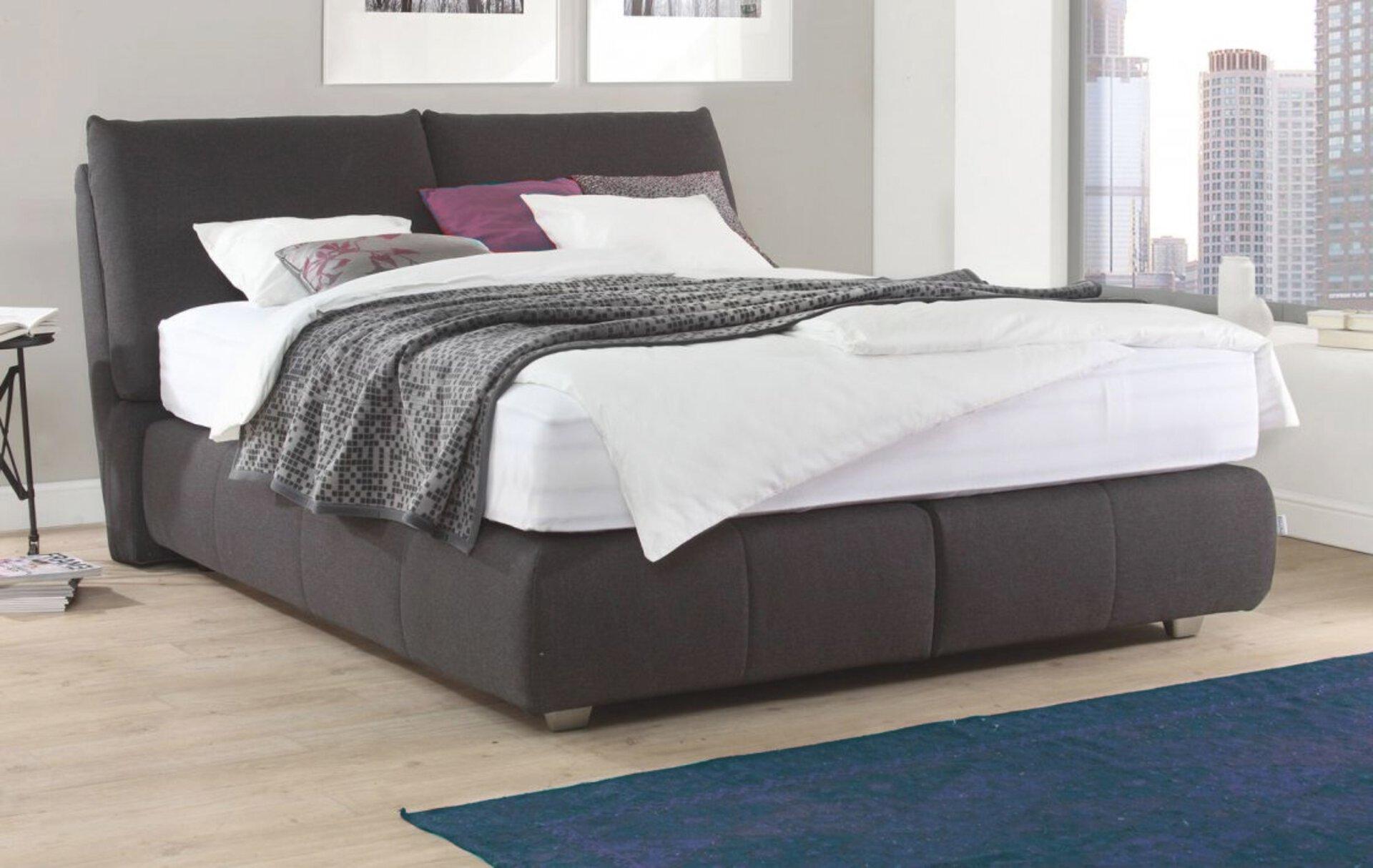 Boxspringbett SUPREME COMFORT MONDO Textil schwarz 187 x 119 x 205 cm