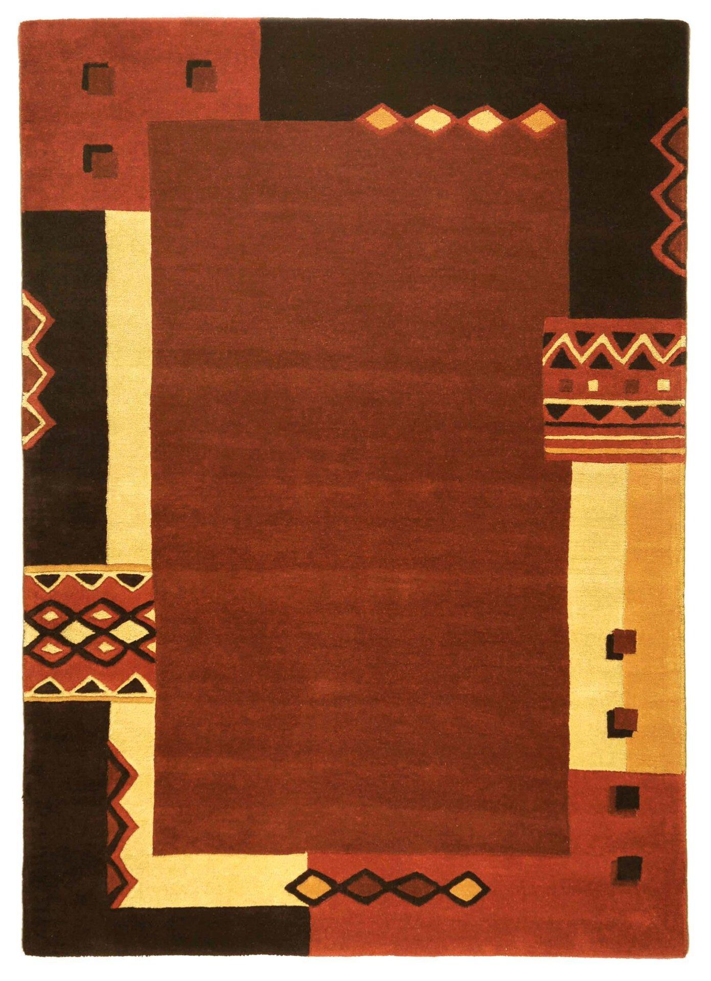 Handtuftteppich Florida Theko Textil orange 1 cm