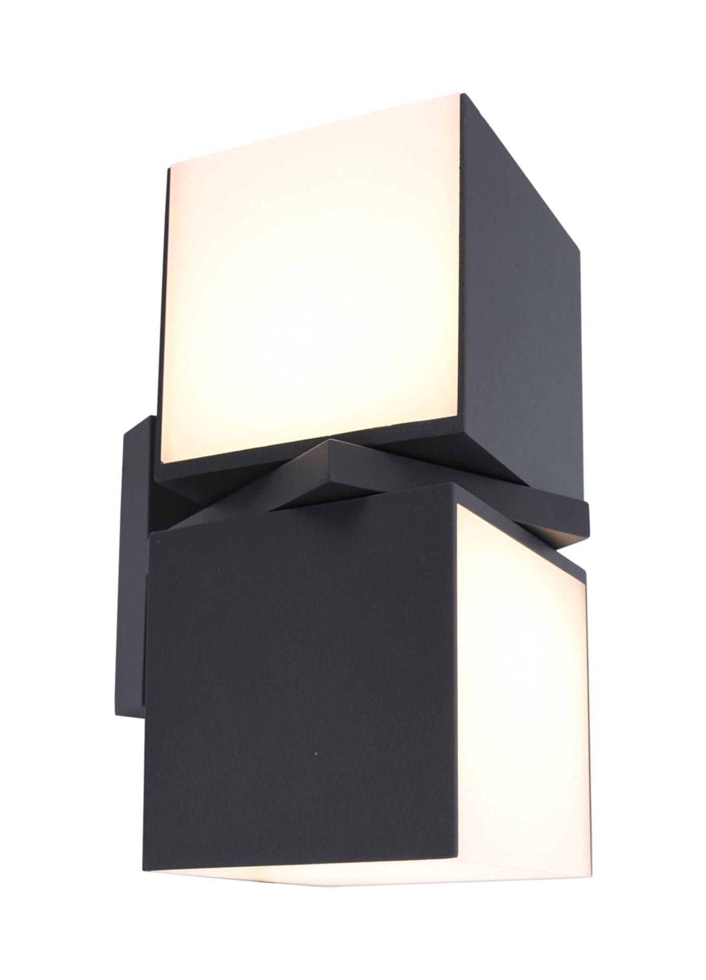 Wand-Aussenleuchte Cuba Eco-Light Metall grau 10 x 21 x
