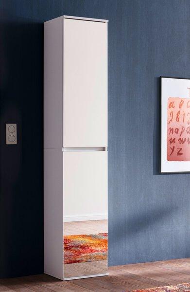 Garderobenschrank inDoor Holzwerkstoff weiß ca. 34 cm x 191 cm x 37 cm