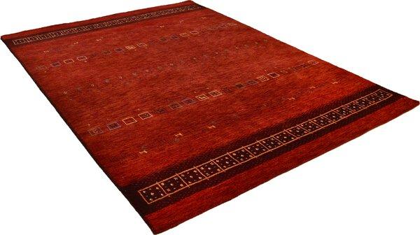 Handwebteppich Lori Star Gold Theko Textil 200 red