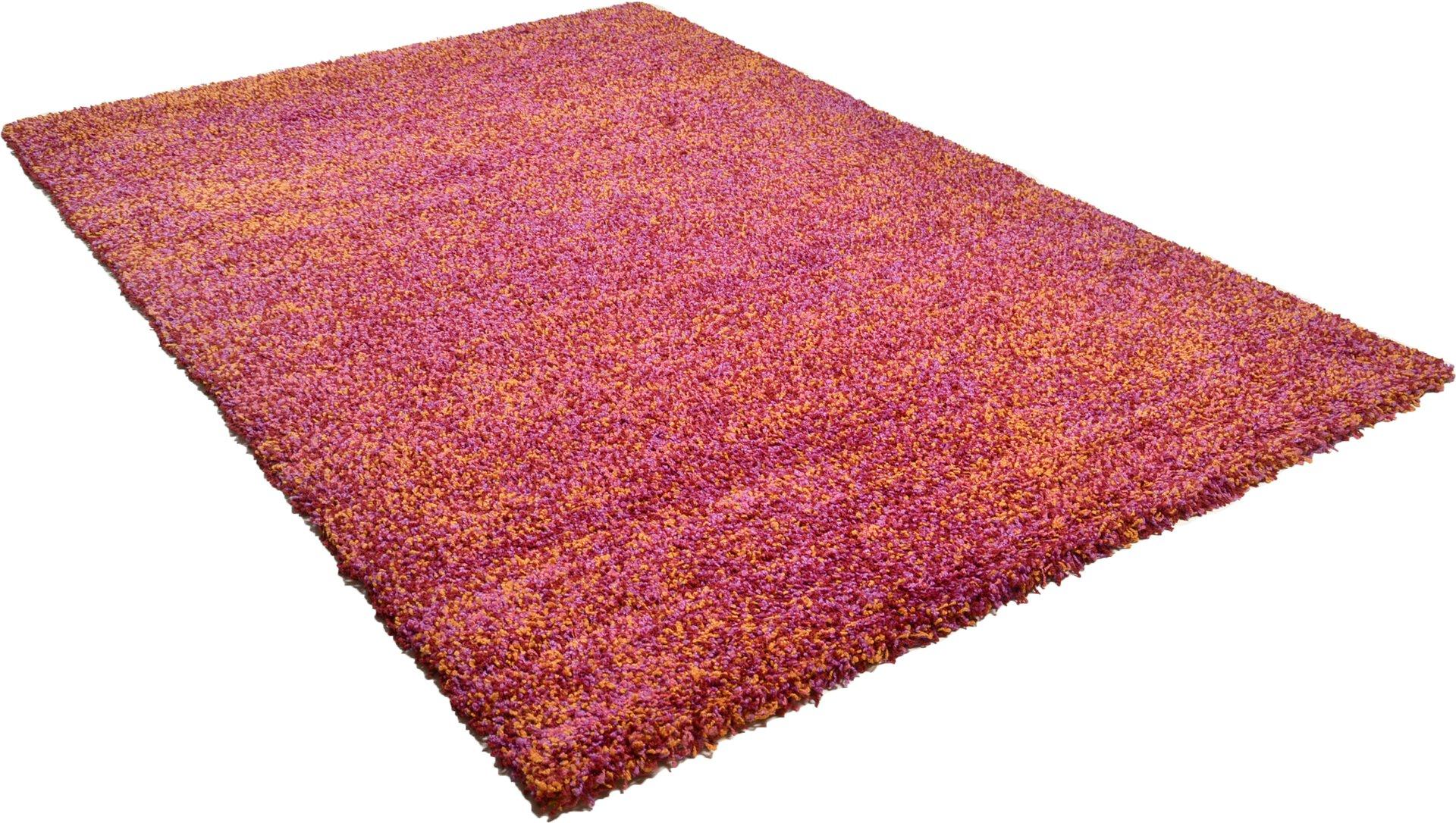 Maschinenwebteppich Color Shag Theko Textil rot