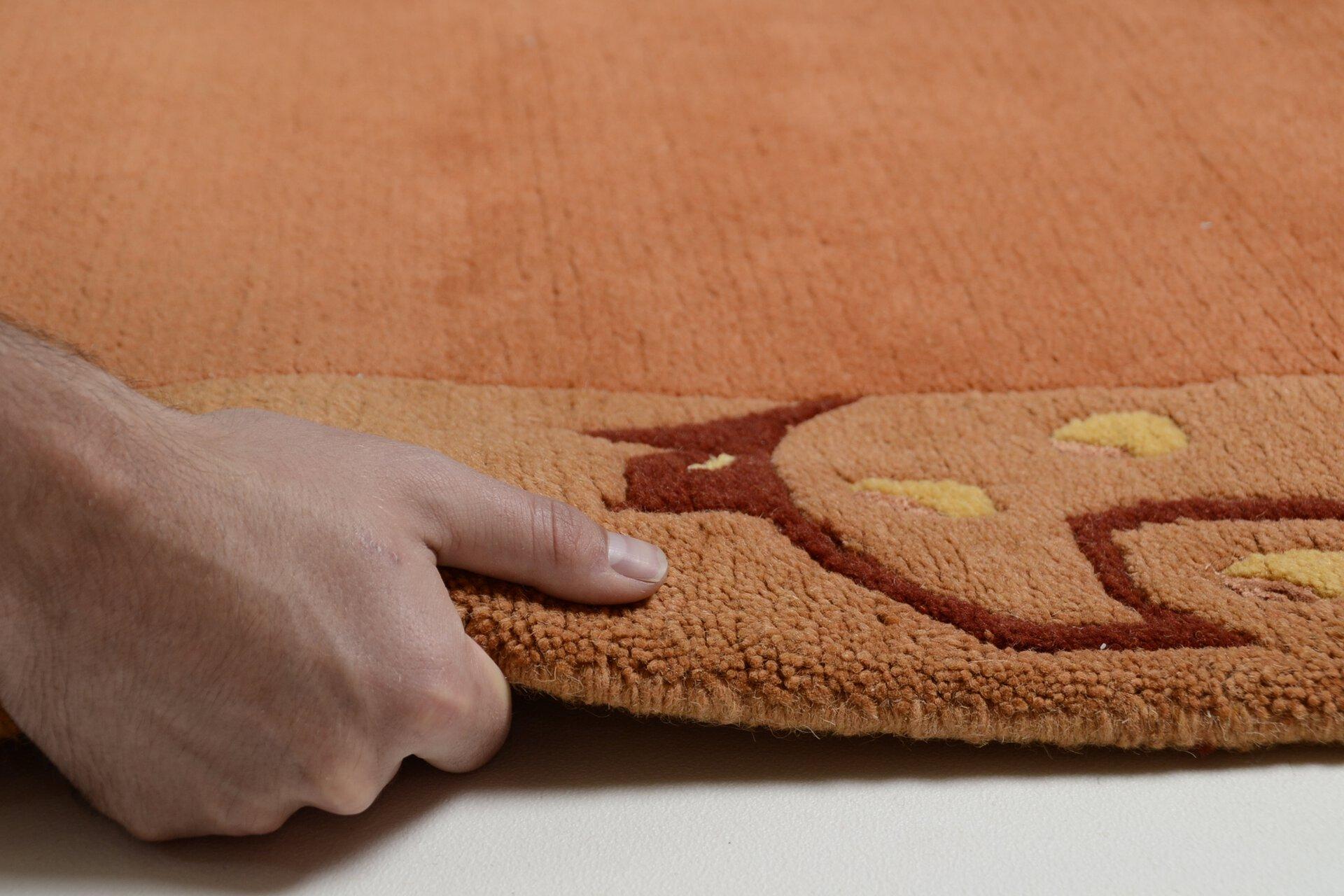 Handknüpfteppich Sierra Theko Textil orange