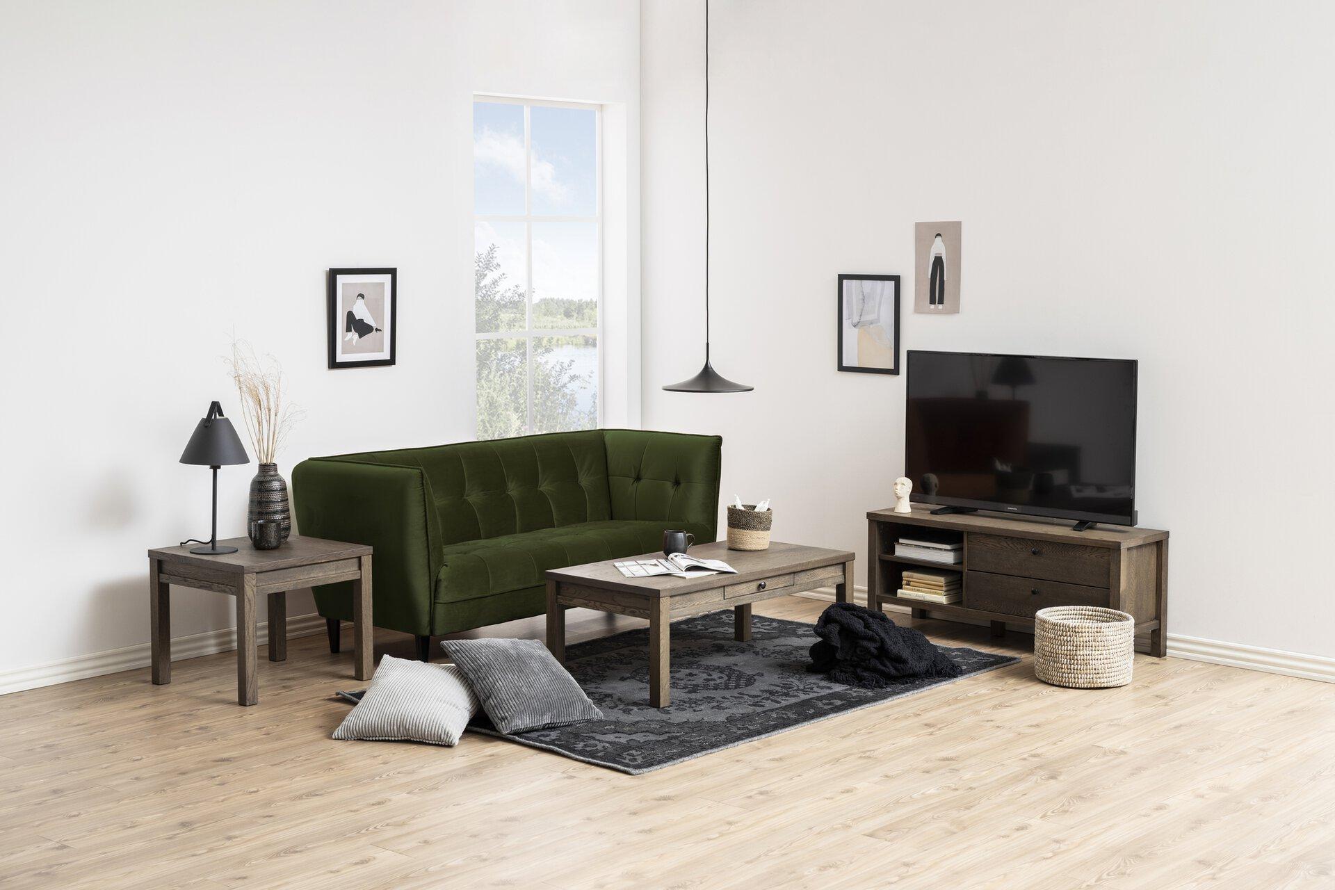 Einzelsofa JONNA CELECT Textil grün 80 x 82 x 182 cm