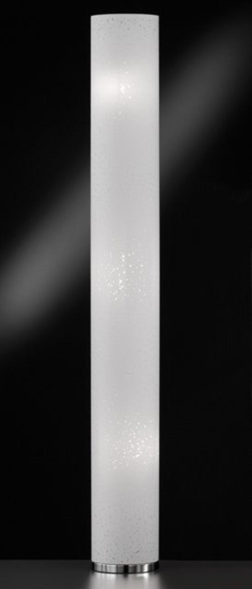 Stehleuchte Thor Fischer-Honsel Metall silber 19 x 160 x 19 cm