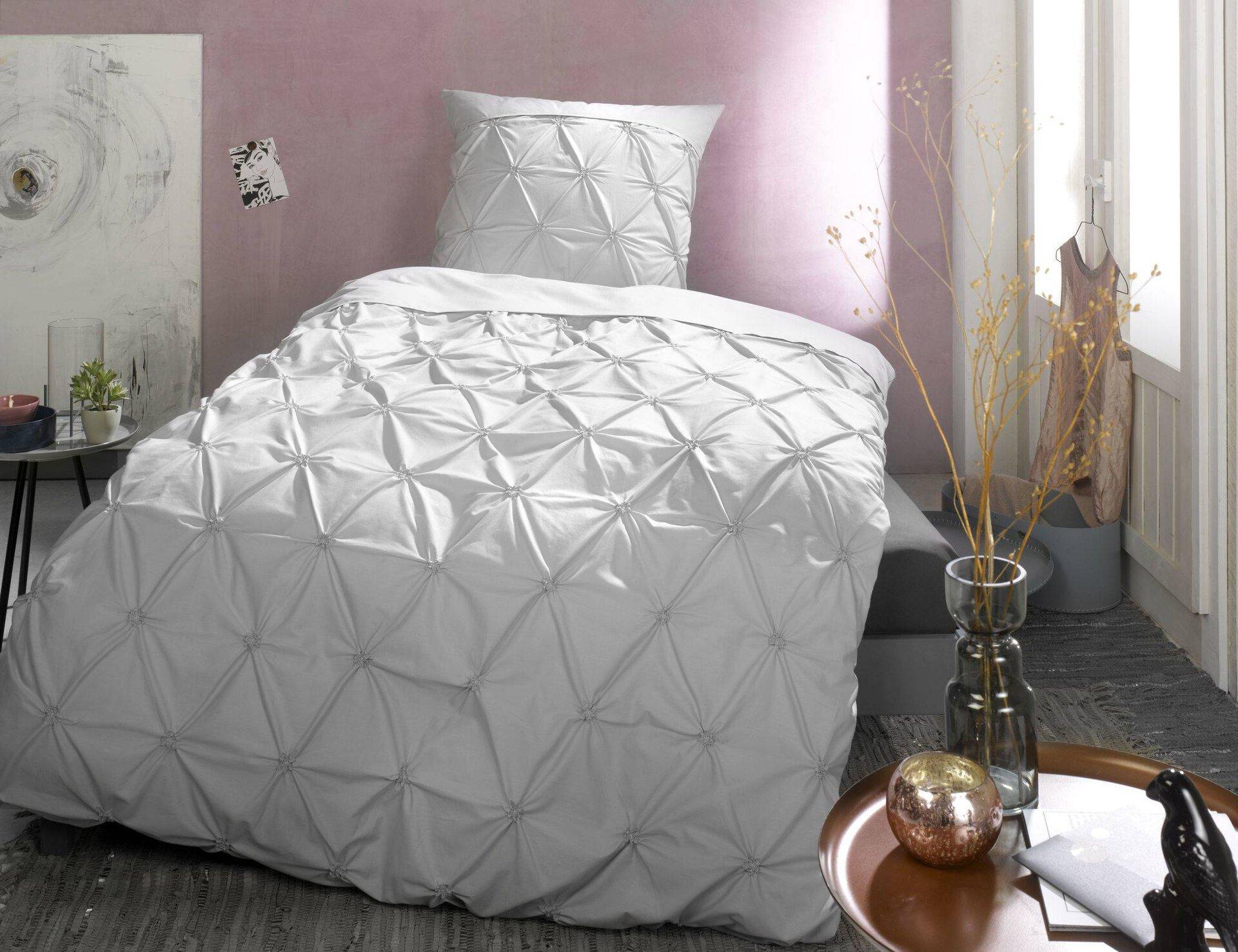 Bettwäsche ProNight Pro Night Textil grau 135 x 200 cm