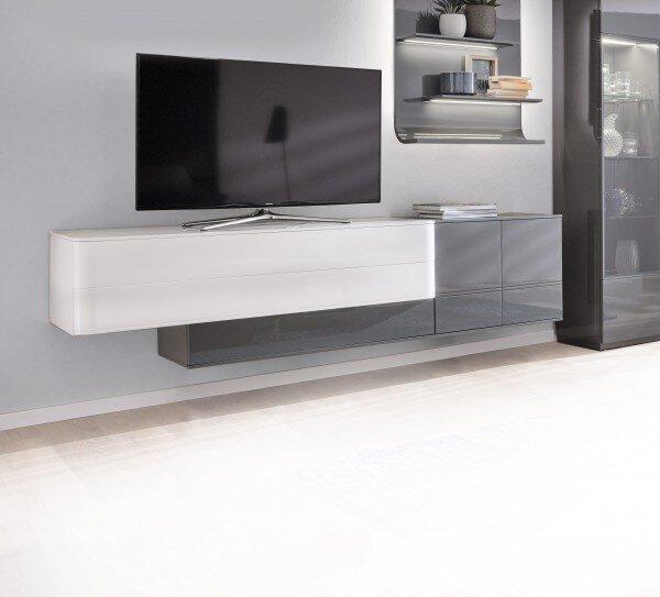 Lowboard MONDO Holzwerkstoff Lack matt anthrazit ca. 46 cm x 54 cm x 225 cm