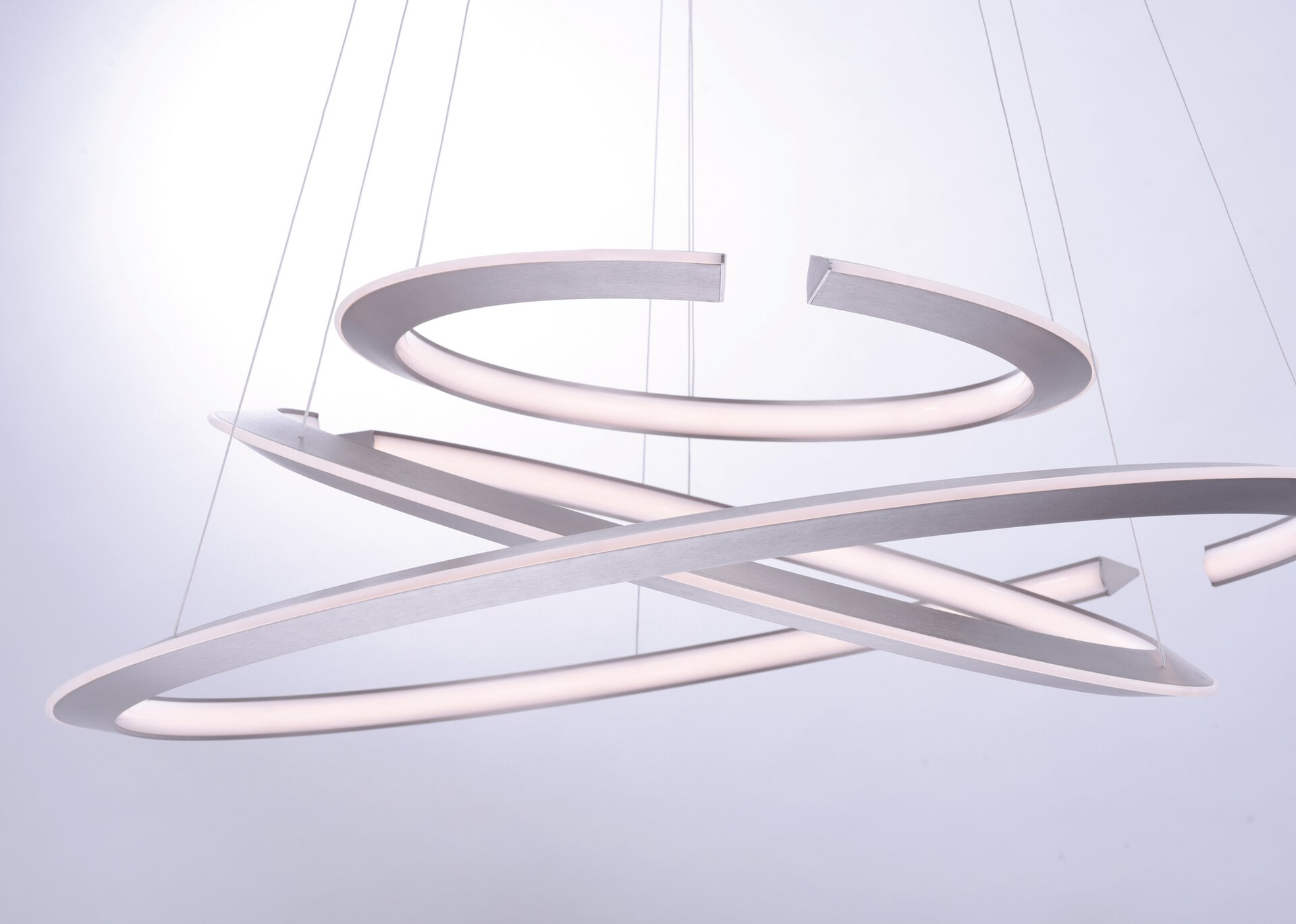 Hängeleuchte ALESSA Paul Neuhaus Metall silber 93 x 200 x 93 cm