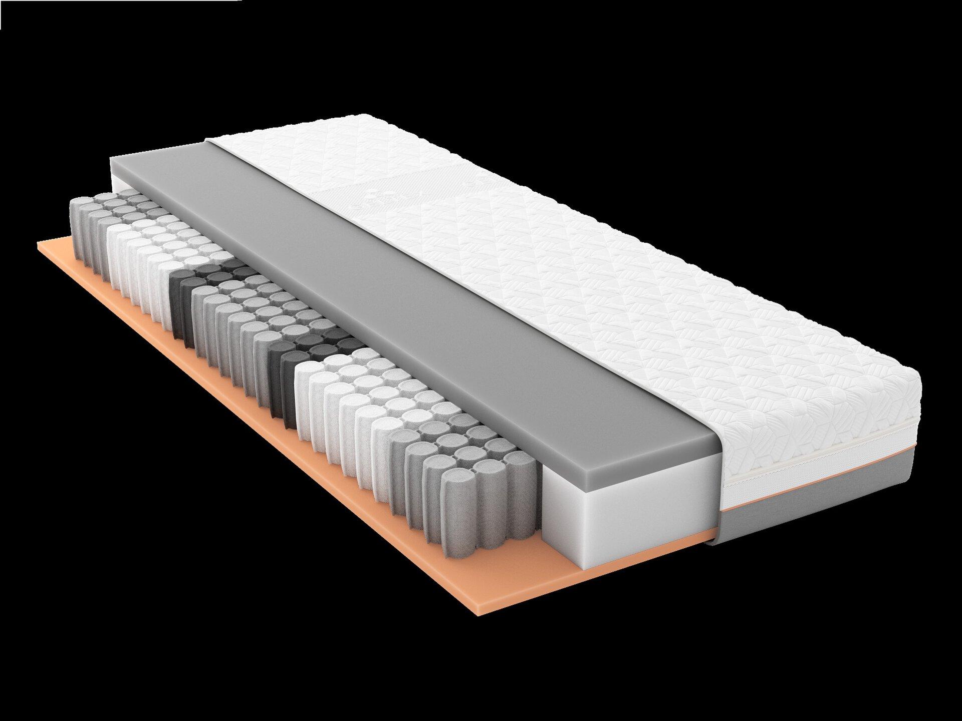 Taschenfederkernmatratze GELTEX Starline X7 TFK H2 Schlaraffia Textil weiß 2 x 2 cm