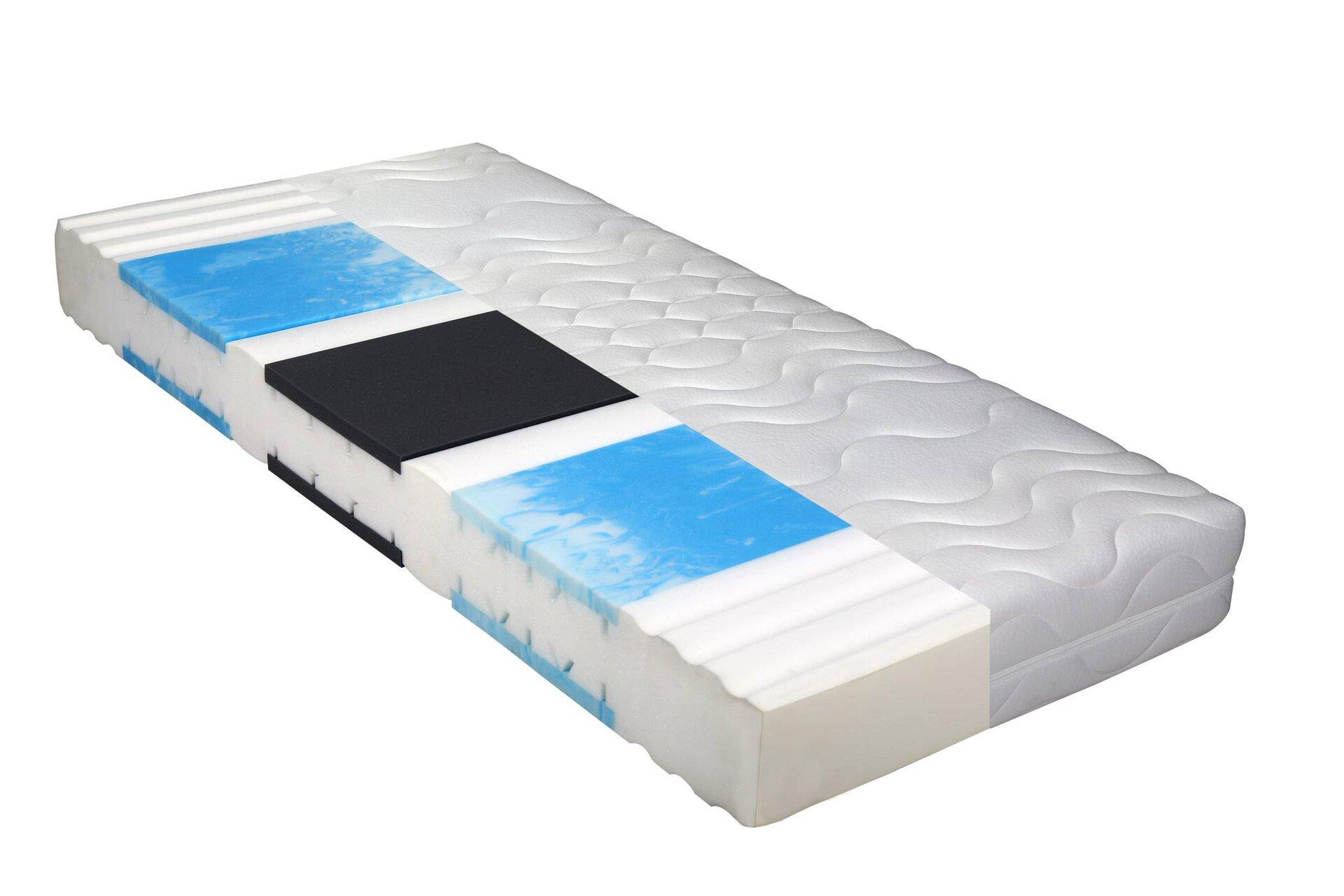 Komfortschaummatratze Emotion Top H3 BeCo Textil weiß 140 x 22 x 200 cm