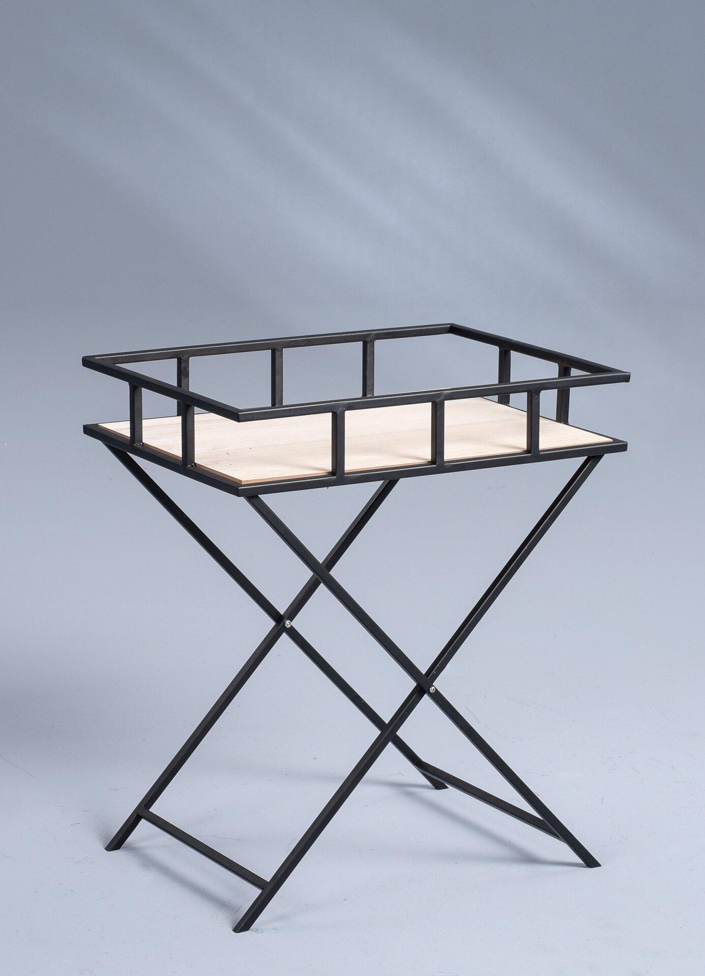 Beistelltisch ILKA M2 Kollektion Metall schwarz 33 x 53 x 43 cm