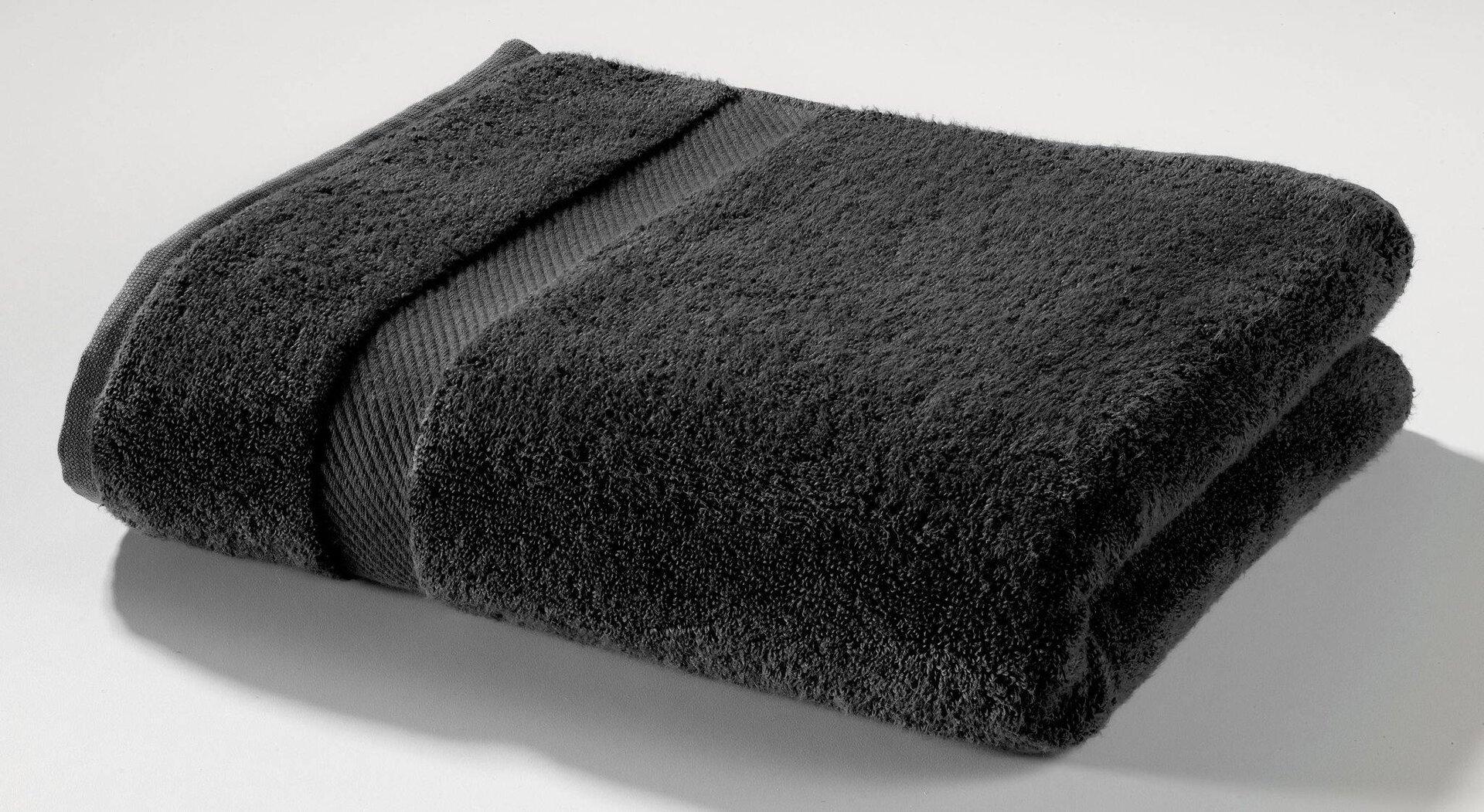 Duschtuch Micro Baumwolle Casa Nova Textil schwarz 70 x 140 cm