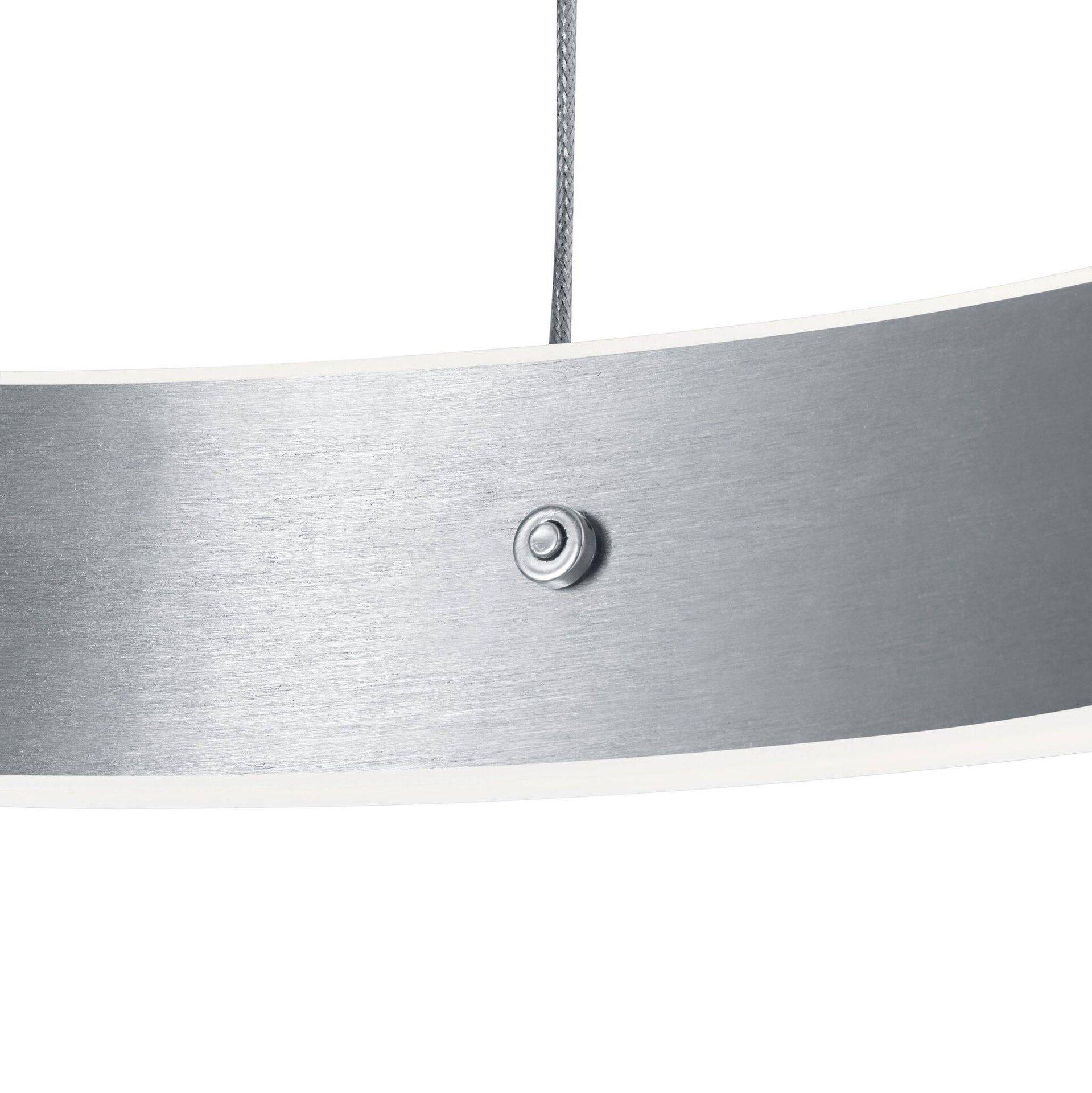 Hängeleuchte DELTA B-Leuchten Metall silber 60 x 150 x 60 cm