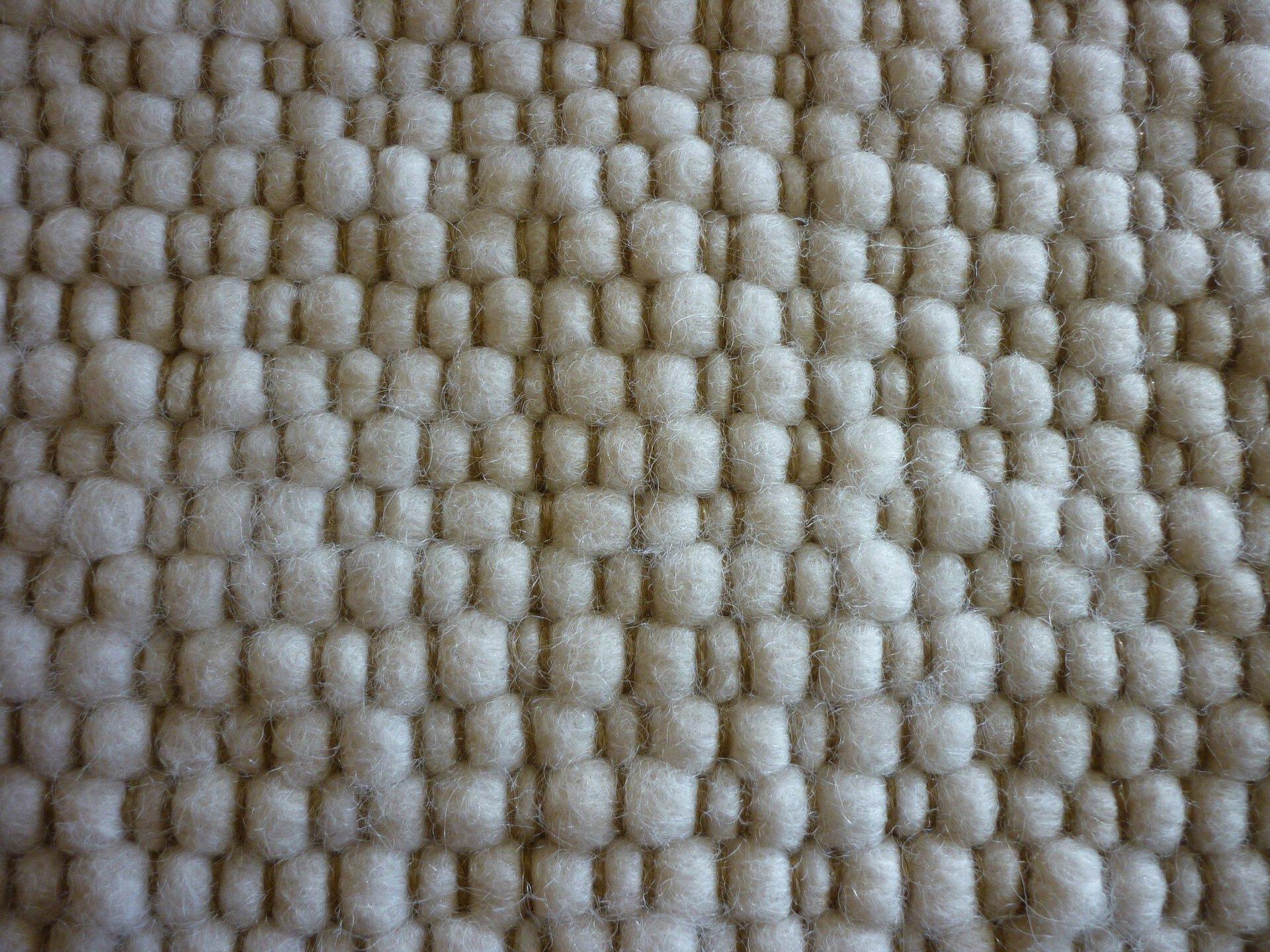 Handwebteppich Laax Allgäuer Teppichmanufaktur Textil weiß
