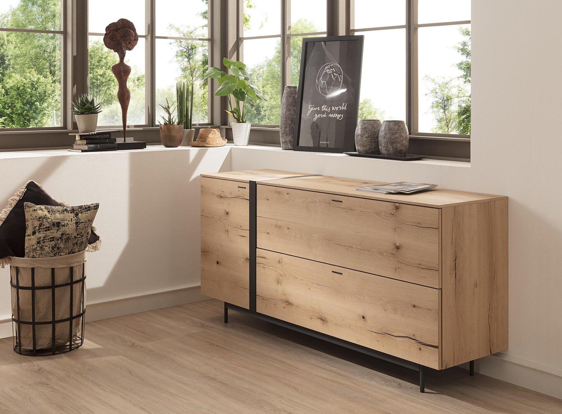 Sideboard Style Gwinner Metall mehrfarbig 50 x 87 x 185 cm