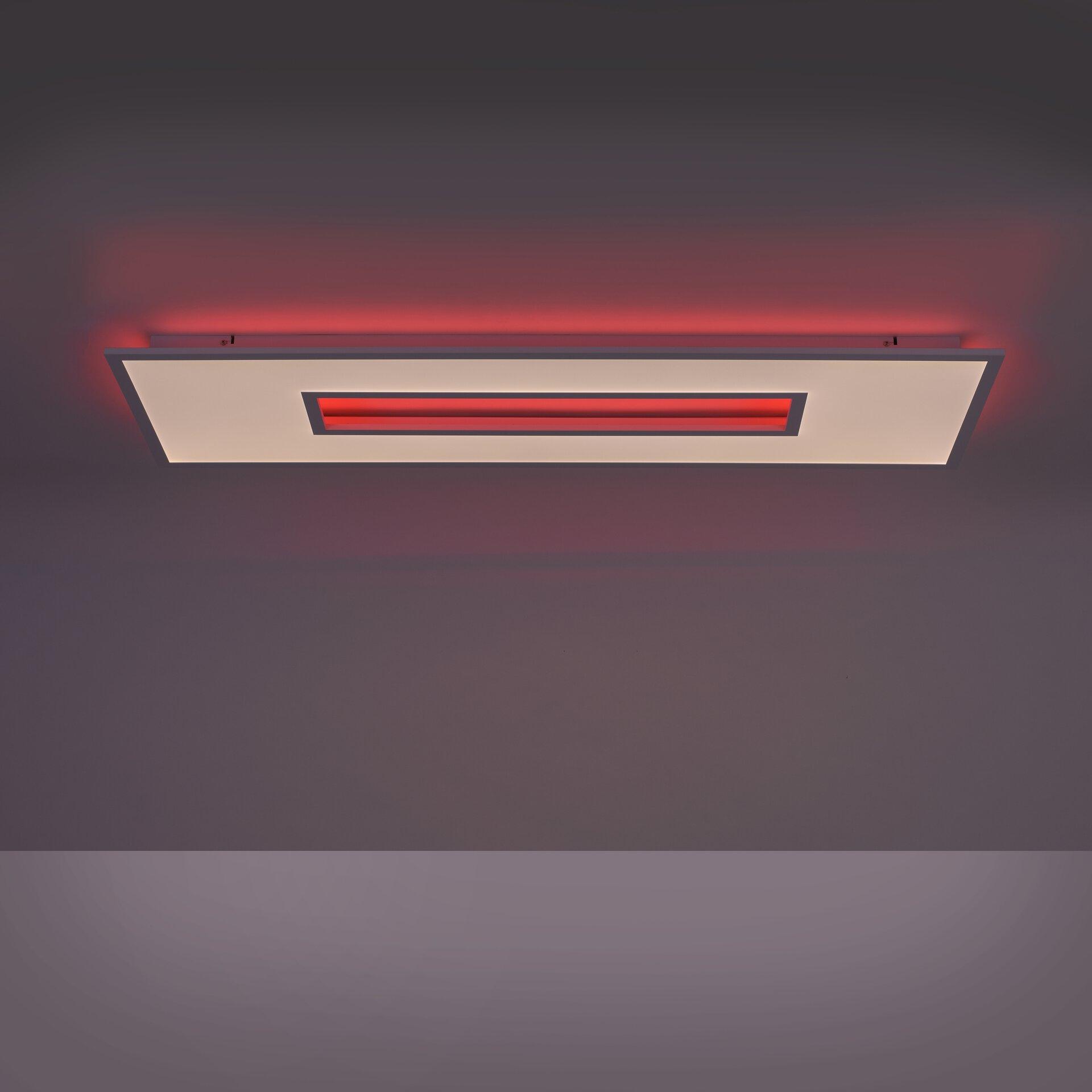 Deckenleuchte RECESS Leuchtendirekt Metall weiß 40 x 5 x 120 cm