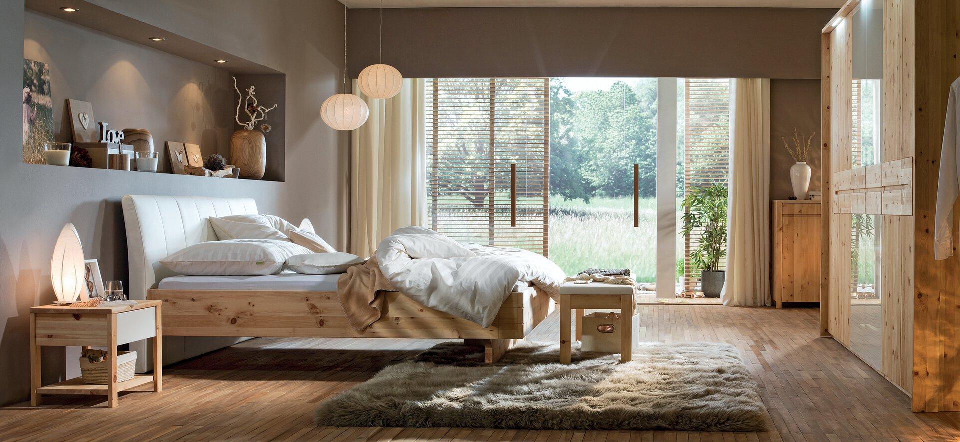 Schlafzimmer CEMBRA Lip Pohistvo Holz 190 x 90 x 210 cm