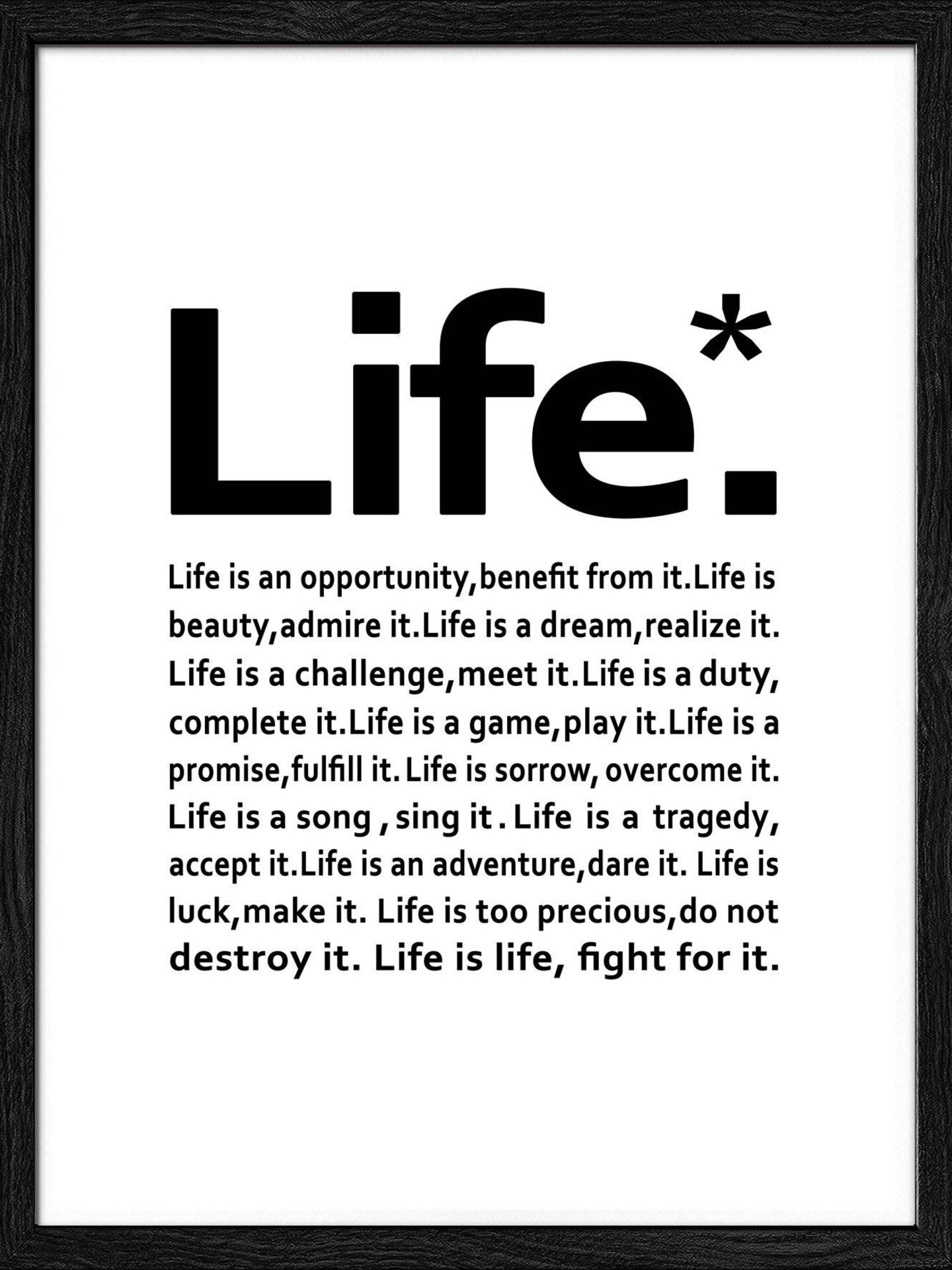 Bild Life Pro-Art Papier mehrfarbig 32 x 32 x