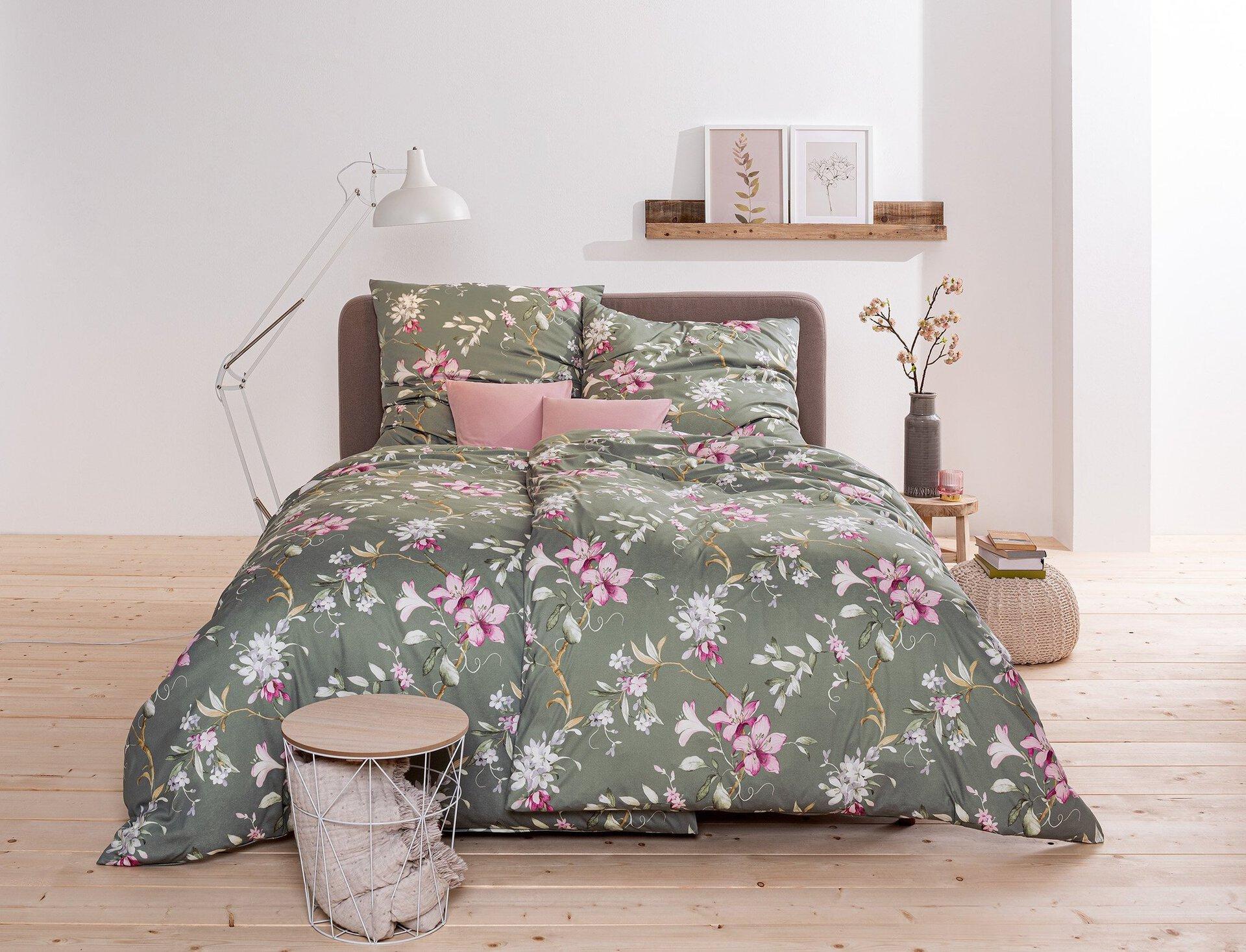 Jersey-Bettwäsche Liliana Estella Textil grün 1 x 2 cm