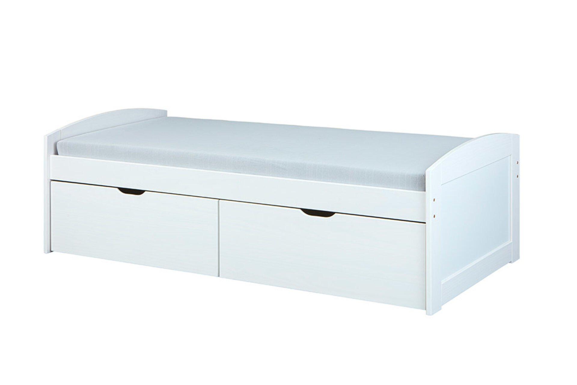 Kinderbett EINAR Dreamoro Holz weiß 205 x 63 x 90 cm
