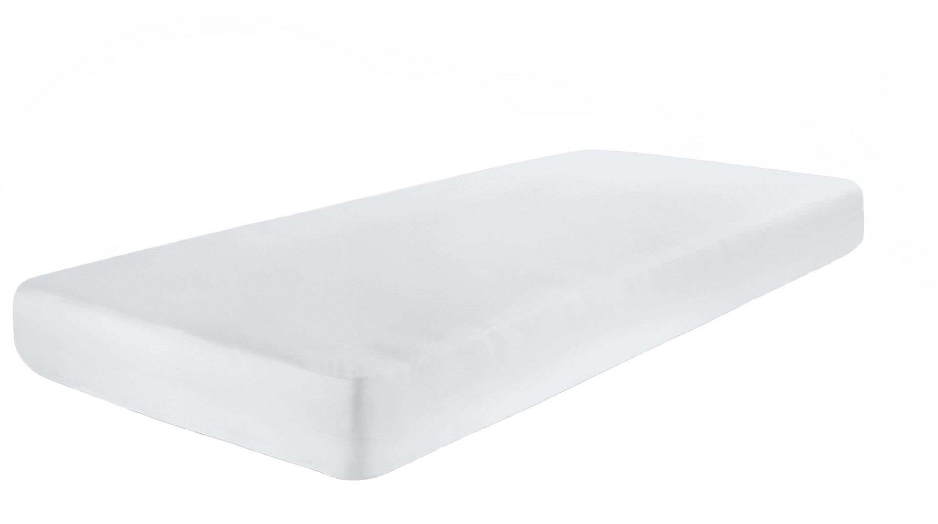 Elastan Jersey Boxspring-Spannbetttuch Pro Night Textil weiß 1 x 2 cm