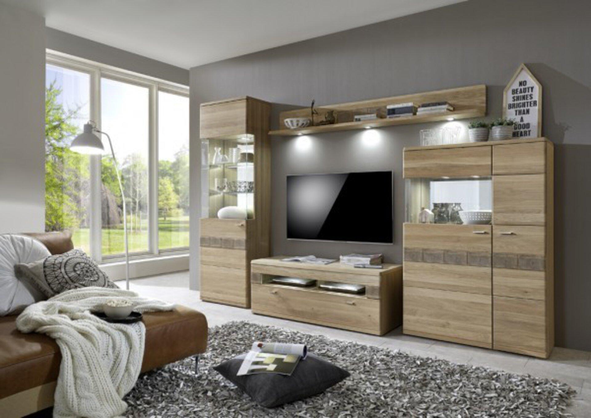 Wohnwand MIRO CELECT Holzwerkstoff braun