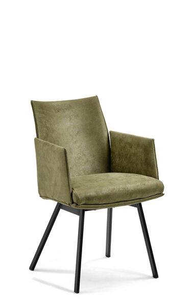 Stuhl MONDO Metall, Textil Bezug Macy 751 Olive