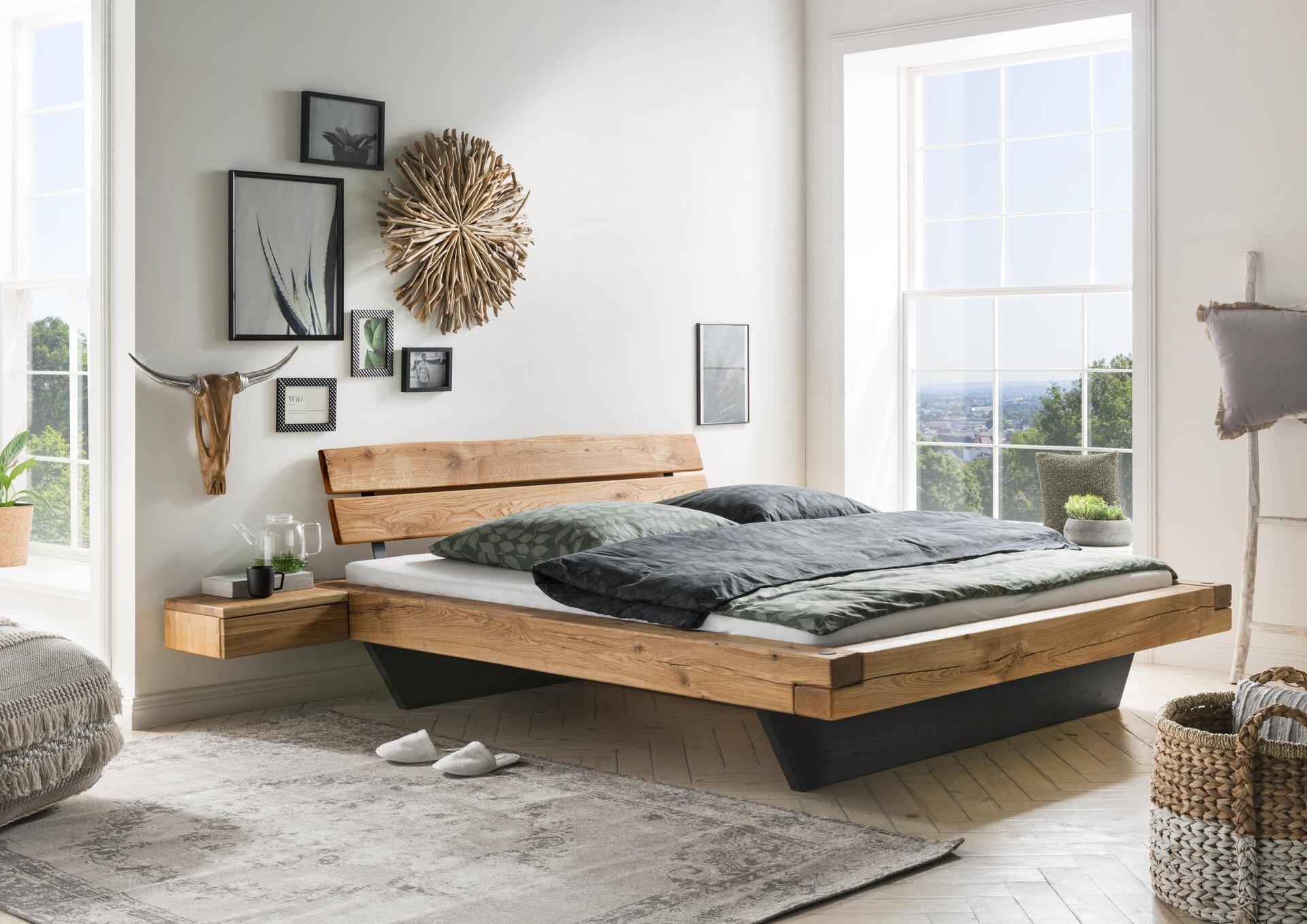 Bett Espera VALMONDO Holz braun 204 x 85 x 224 cm