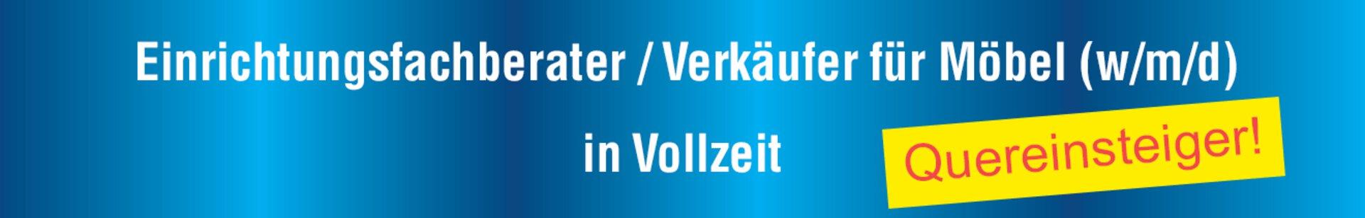"""Banner """"Karriere"""" Fachberater für Möbel"""