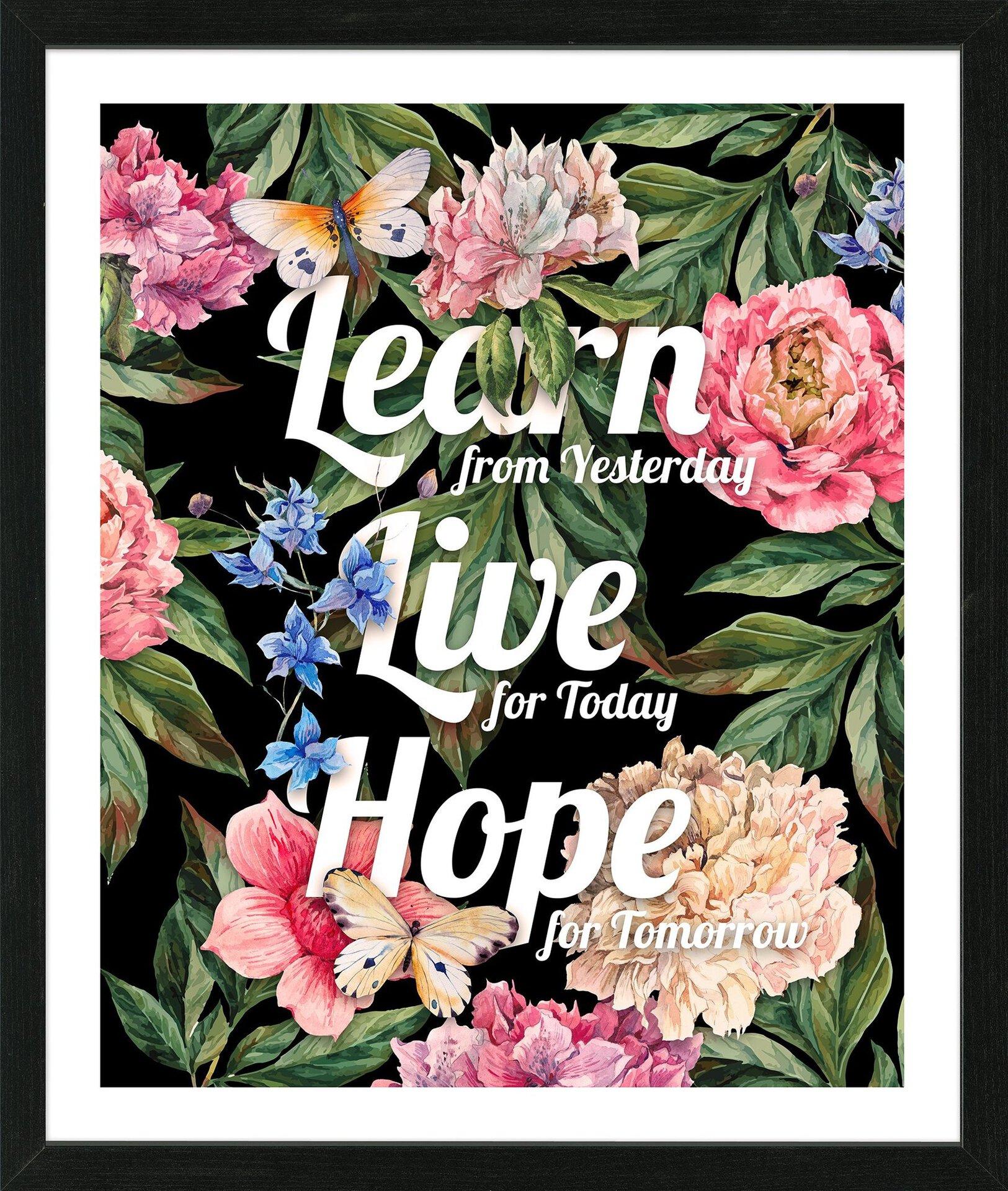 Bild Learn - Live - Love Pro-Art Holzwerkstoff 65 x 55 x 3 cm