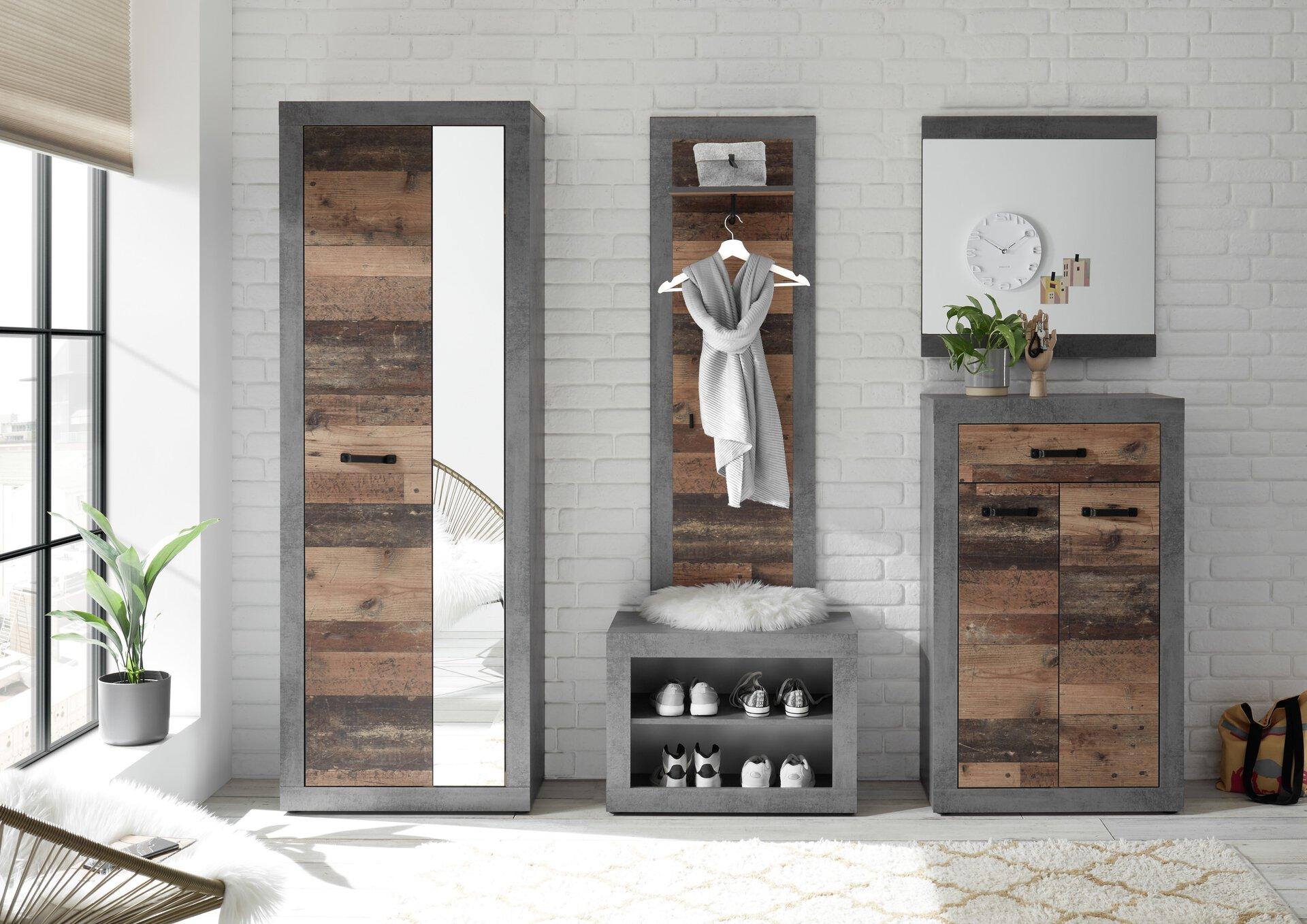 Spiegel INDIANA inDoor Holzwerkstoff mehrfarbig 3 x 70 x 68 cm