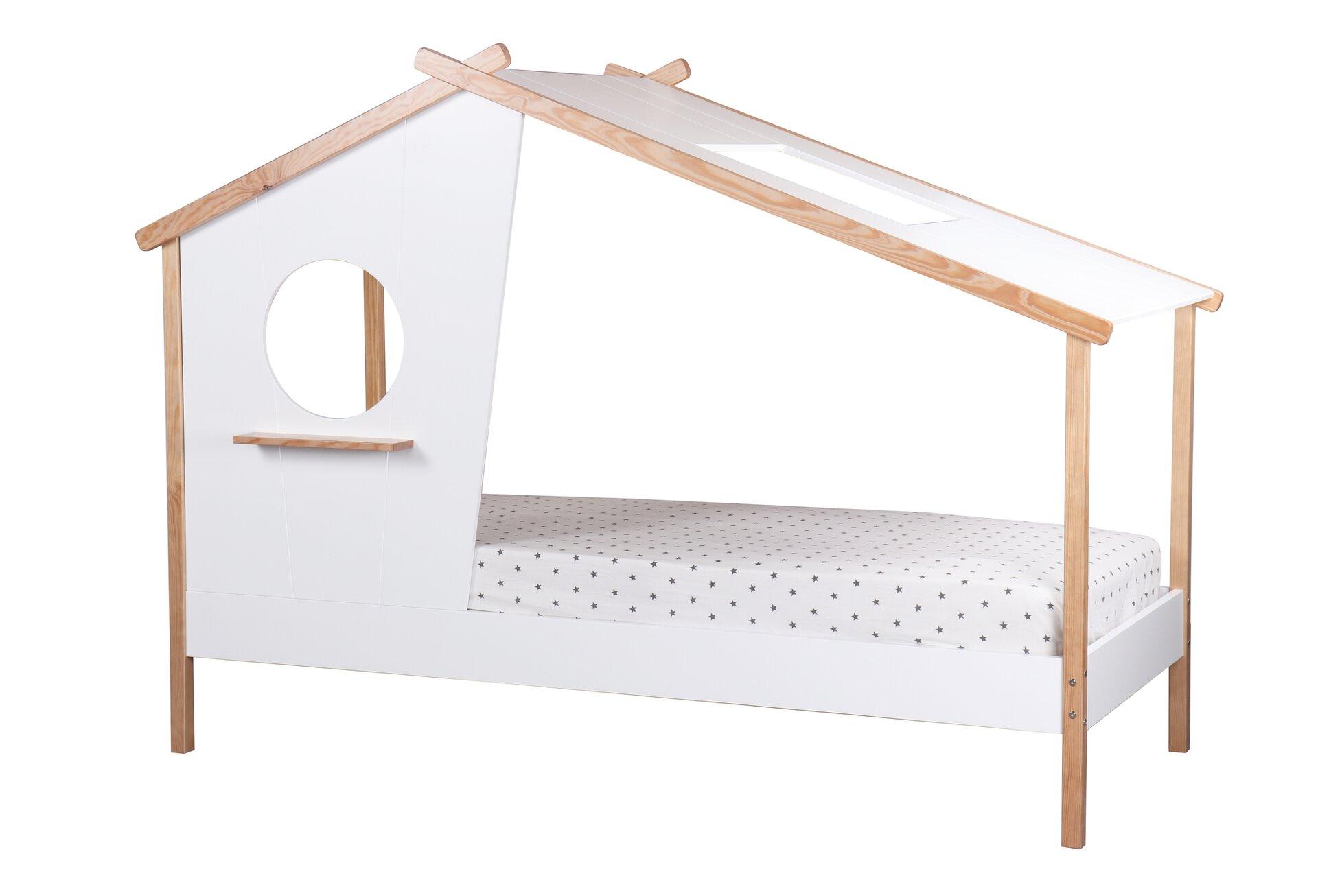 Kinderbett AMELIE inbuy Holzwerkstoff weiß 105 x 159 x 210 cm