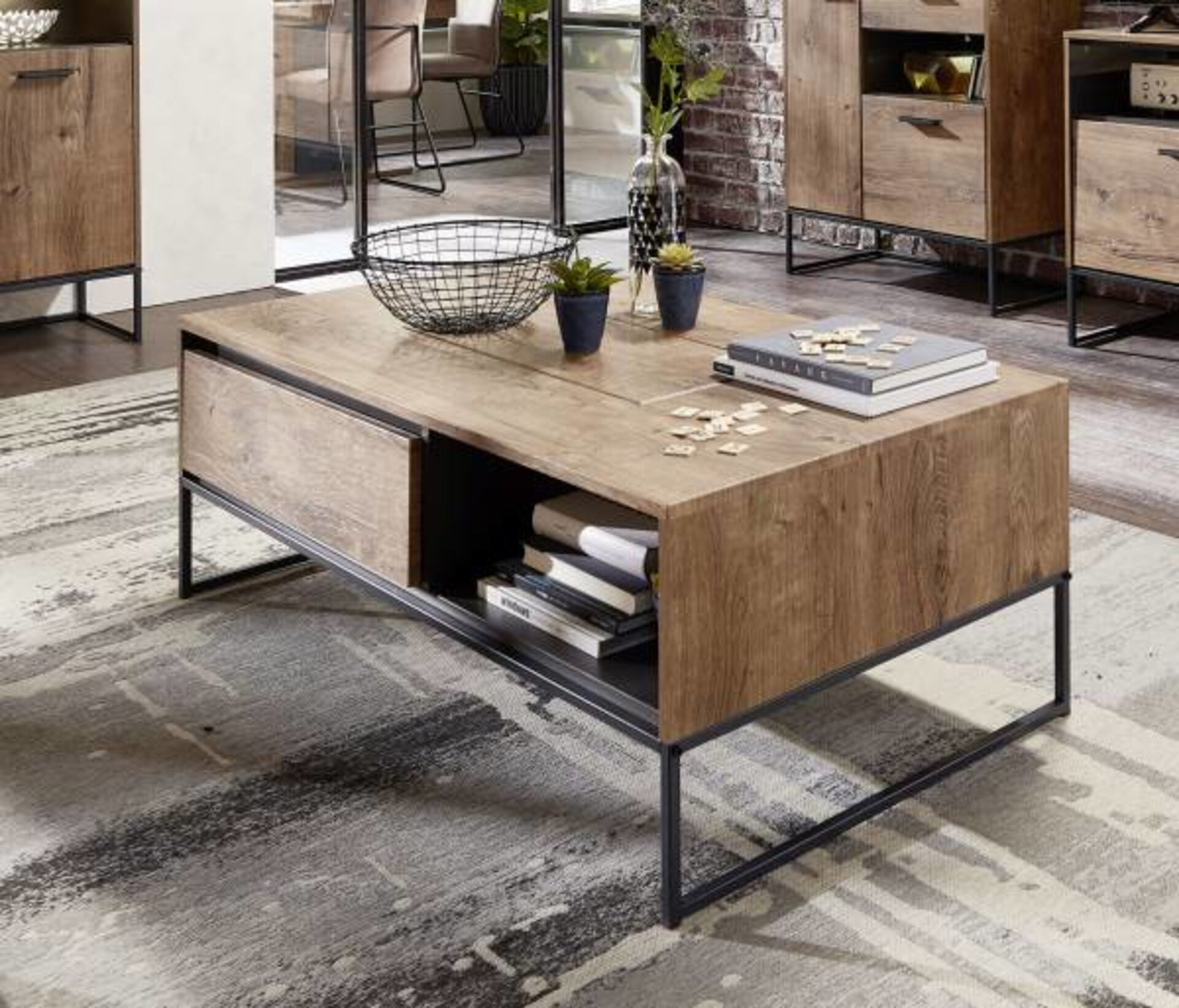 Beistelltisch SWEEP Vito Holzwerkstoff braun 65 x 42 x 115 cm