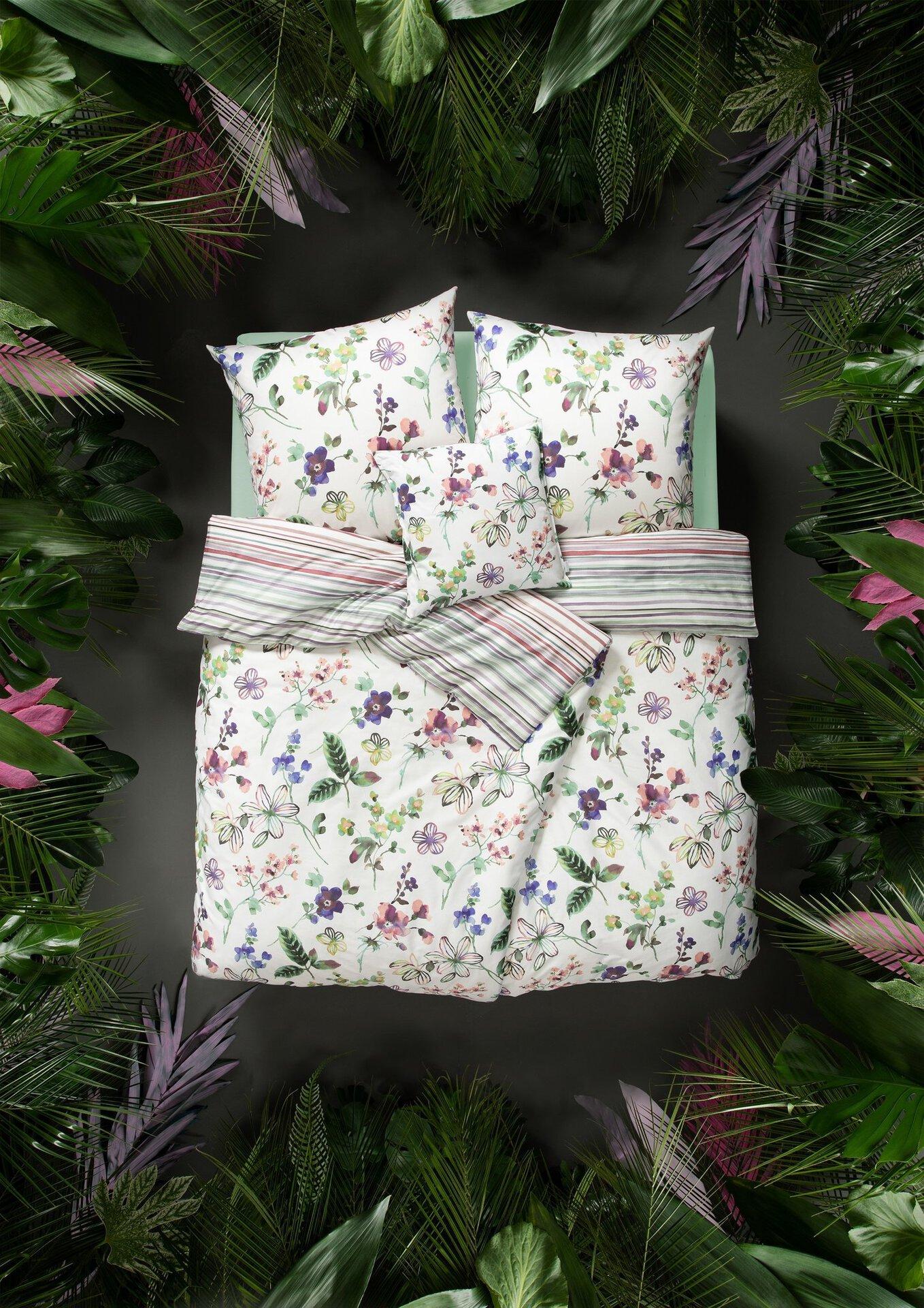 Satin-Bettwäsche Lilly Estella Textil mehrfarbig 1 x 2 cm