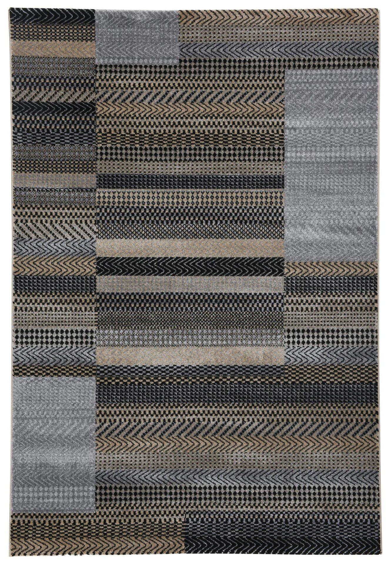 Maschinenwebteppich Monia Gino Falcone Textil grau 1 cm