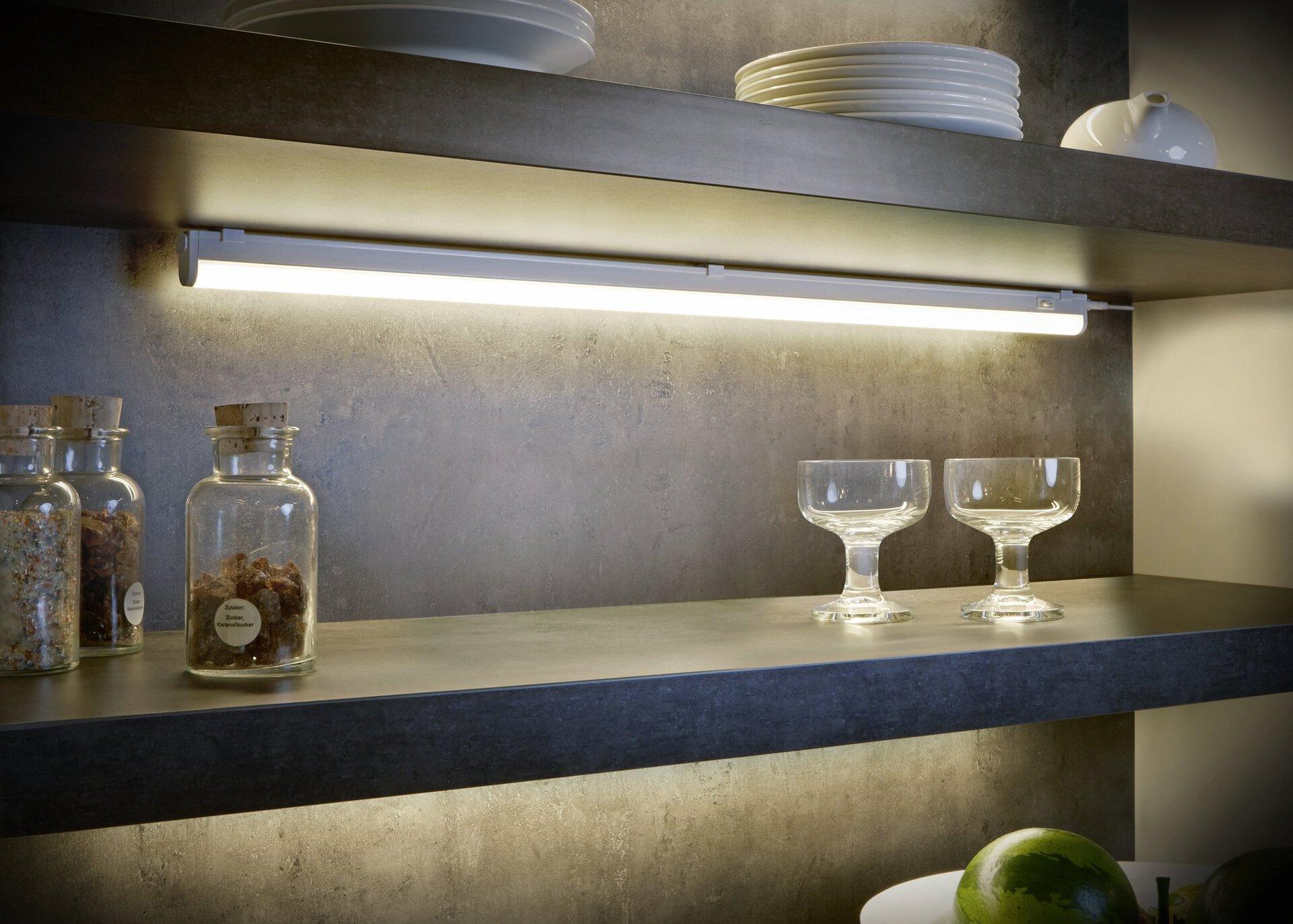 Unterbauleuchte Ramon Trio Leuchten Kunststoff grau 3 x 4 x 84 cm