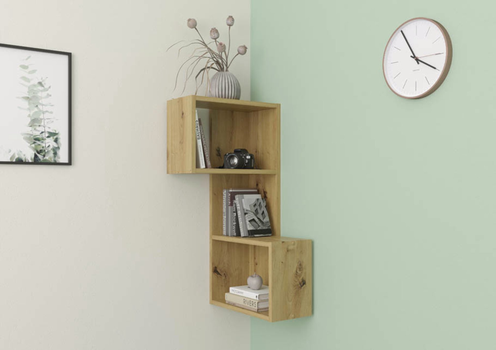 Regal inbuy Holzwerkstoff braun 43 x 86 x 43 cm