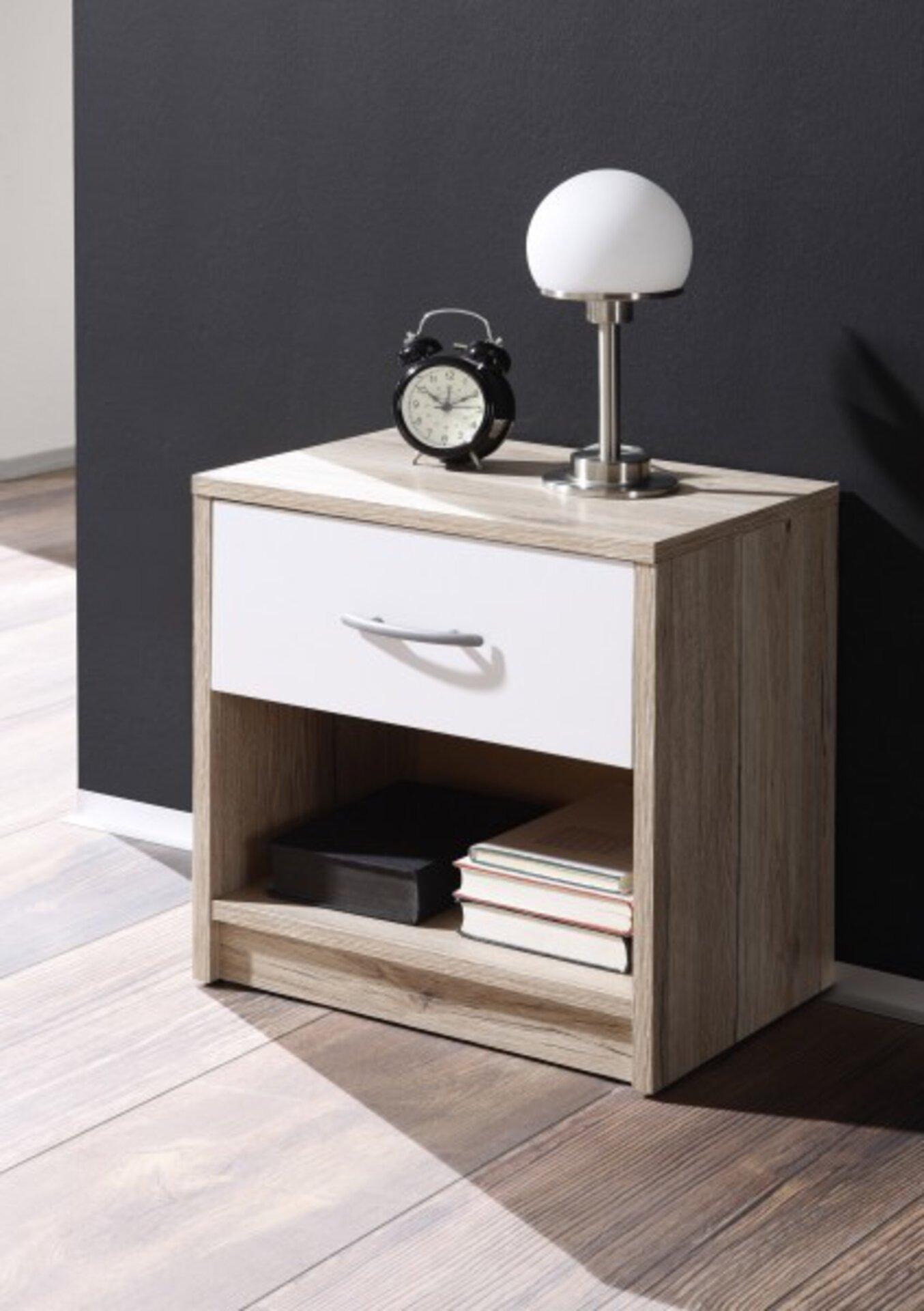 Nachttisch PEPE Dreamoro Holzwerkstoff weiß